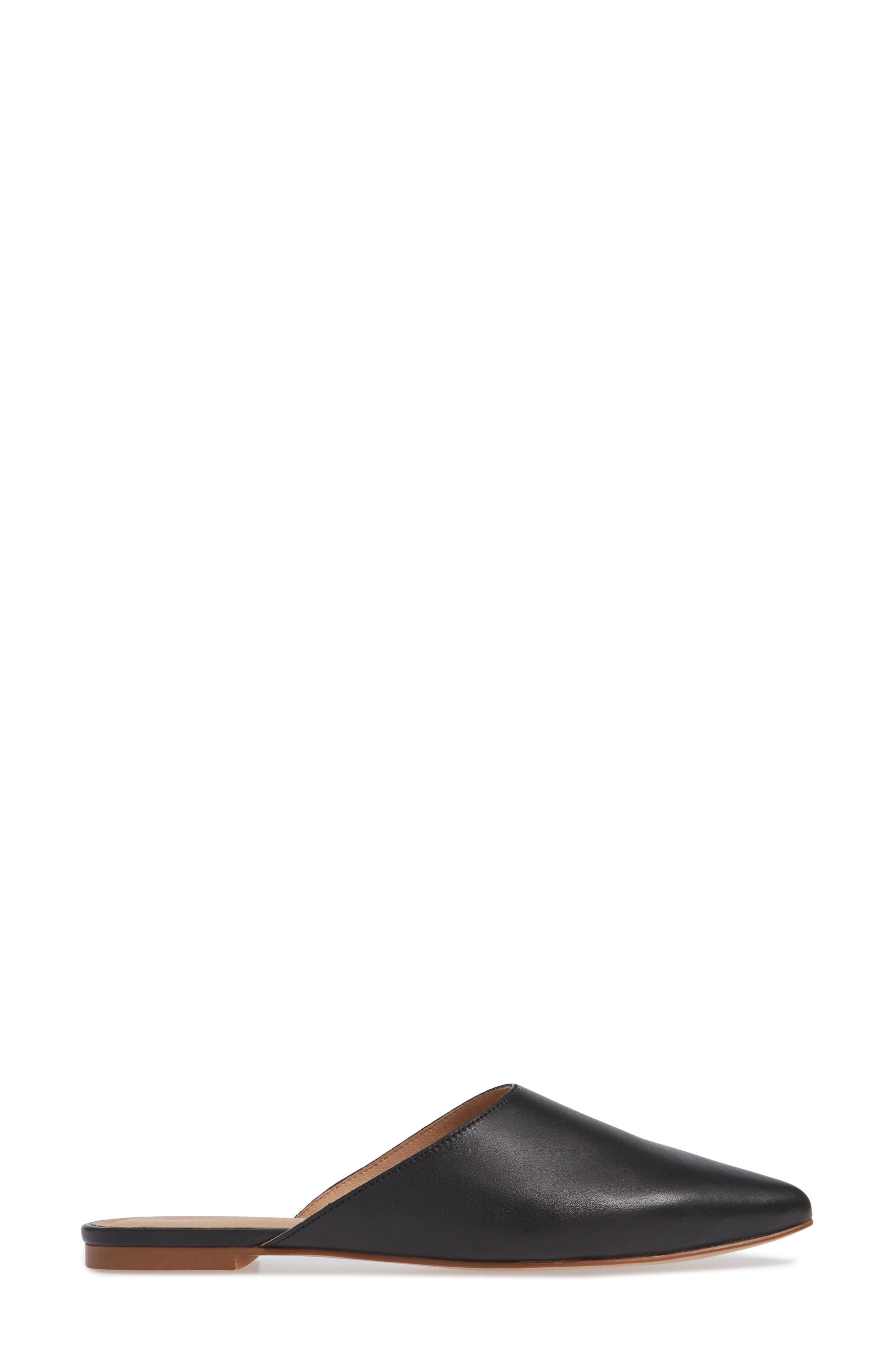 Remi Mule,                             Alternate thumbnail 3, color,                             TRUE BLACK LEATHER