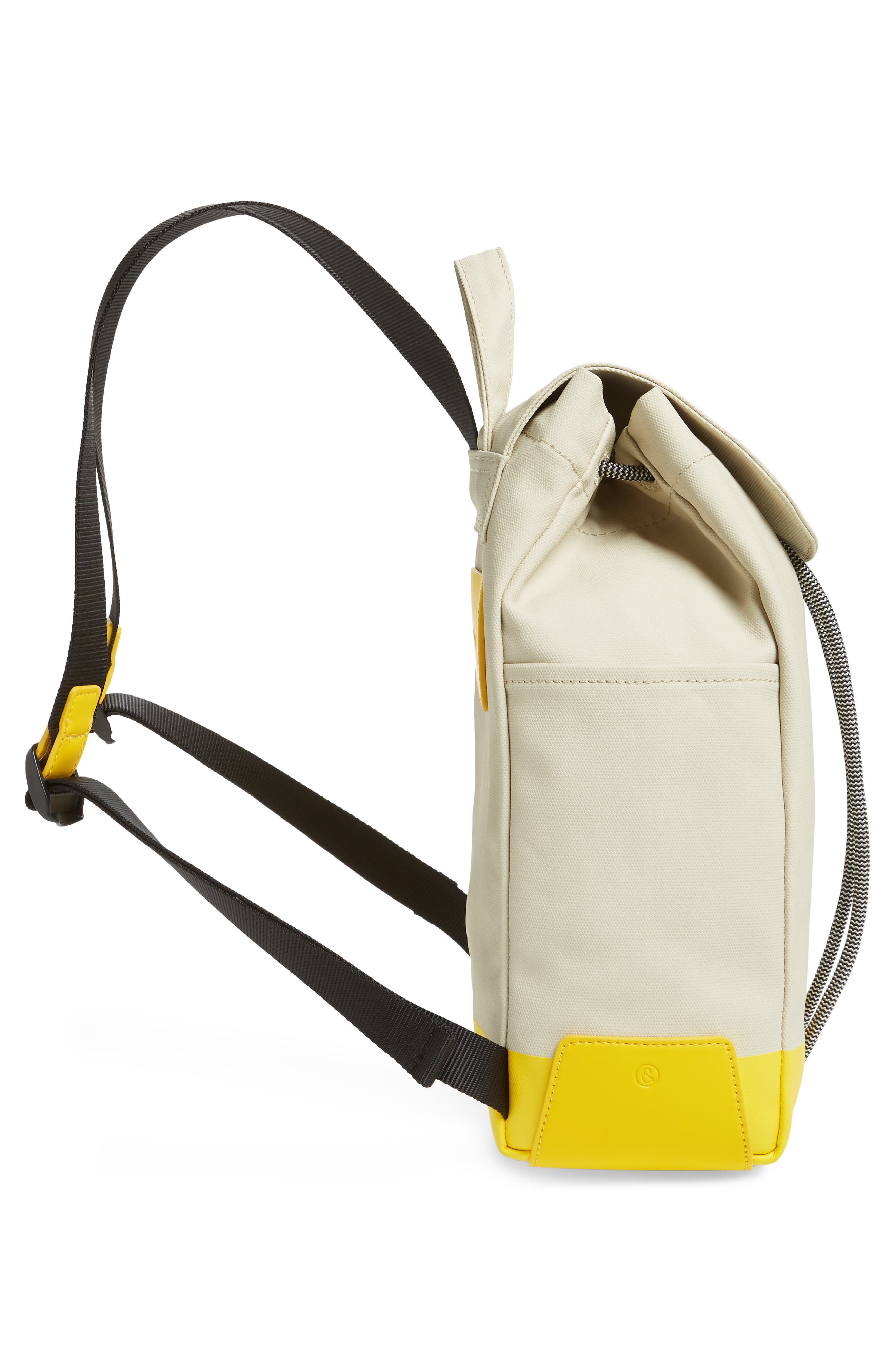 Penny Flap Backpack,                             Alternate thumbnail 5, color,                             IVORY BIRCH/YELLOW