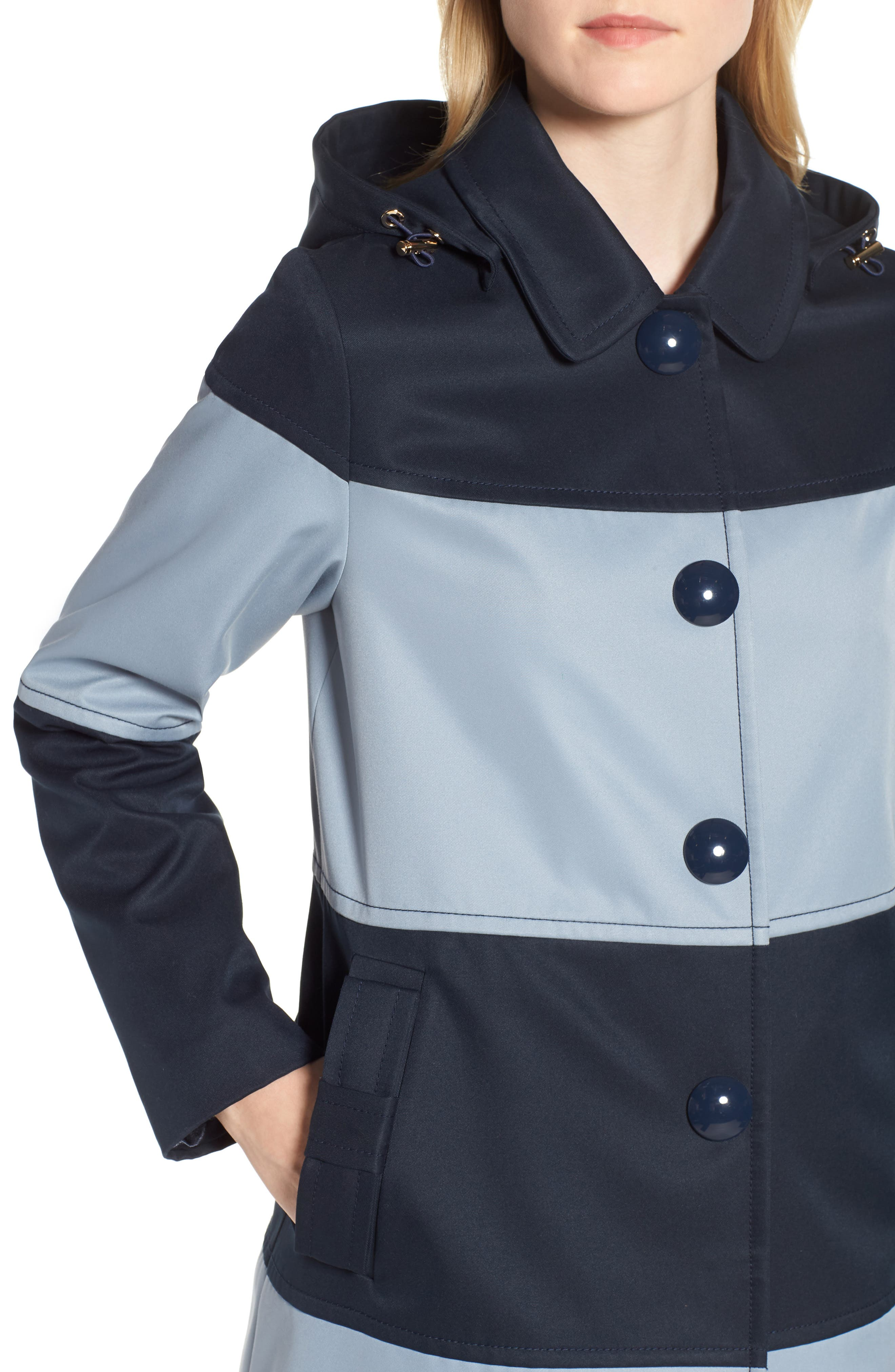 colorblock raincoat,                             Alternate thumbnail 4, color,                             400