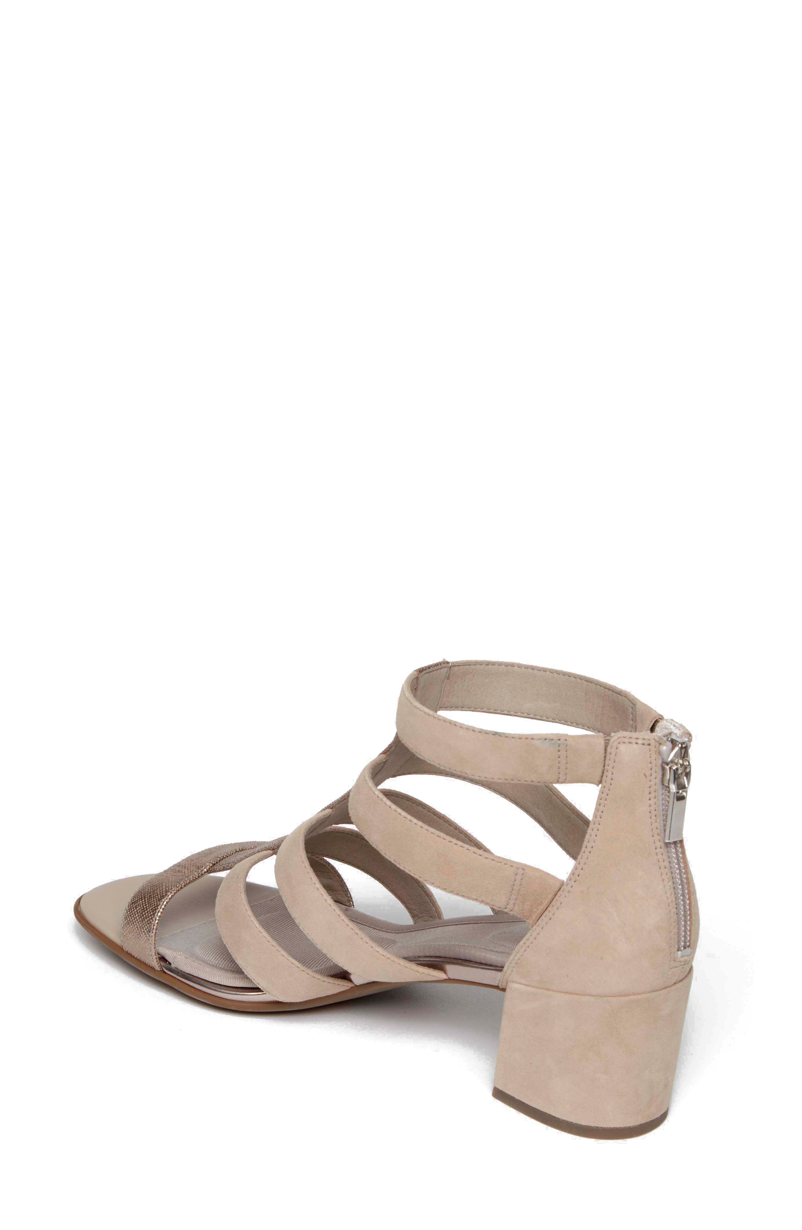 ROCKPORT,                             Total Motion Alaina Luxe Cage Sandal,                             Alternate thumbnail 2, color,                             DOVE SUEDE