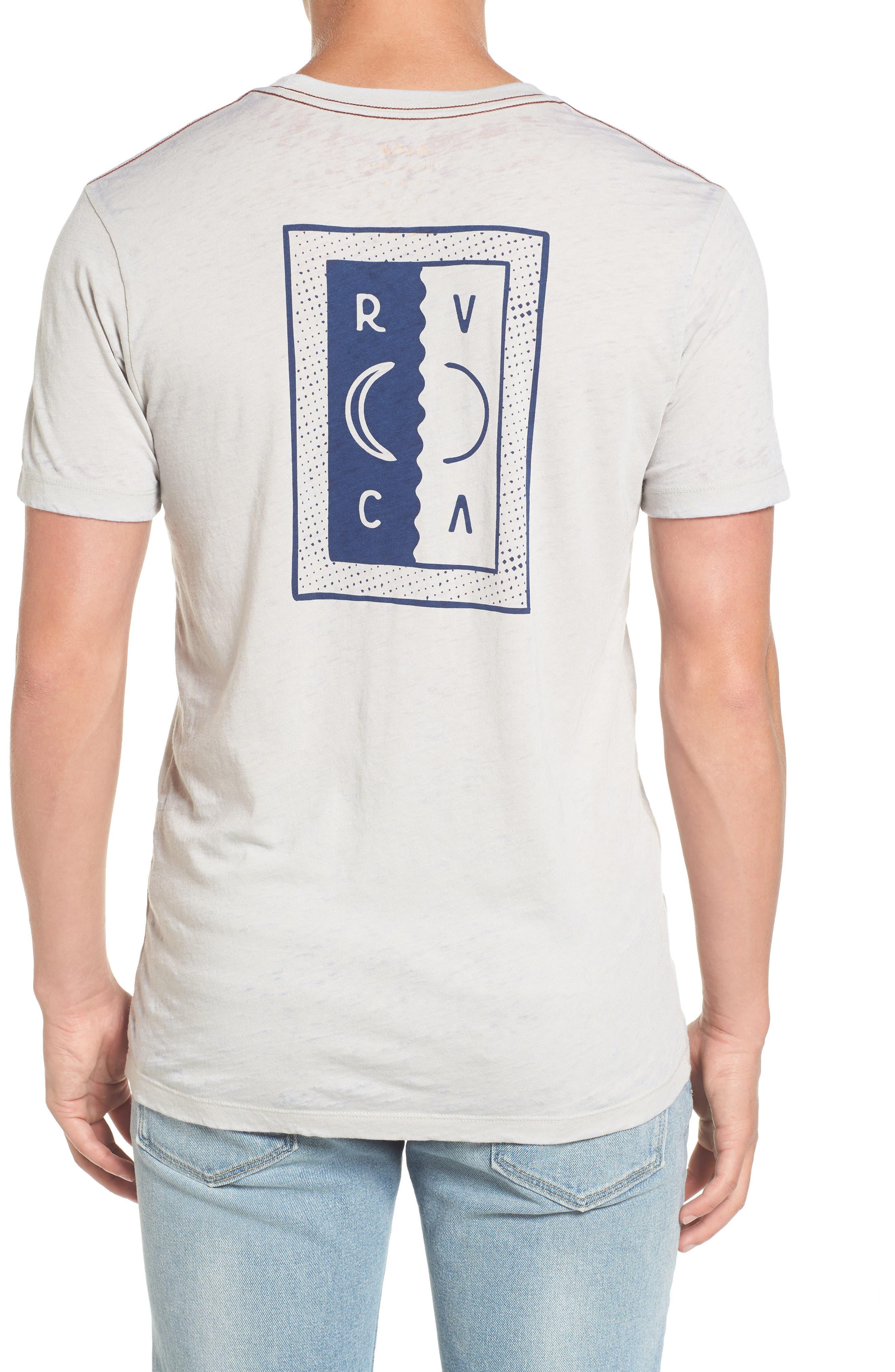 Opposing Moons Graphic Burnout T-Shirt,                             Alternate thumbnail 4, color,