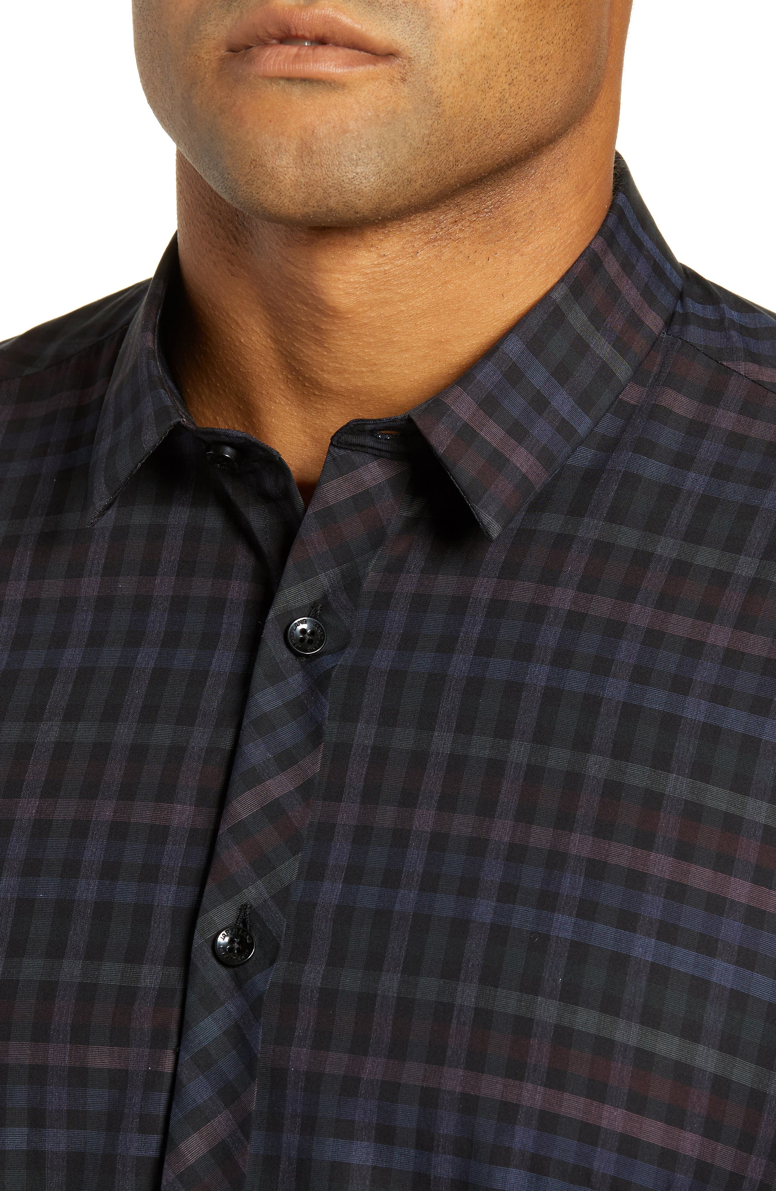 Trim Fit Sport Shirt,                             Alternate thumbnail 2, color,                             MULTI CHECK
