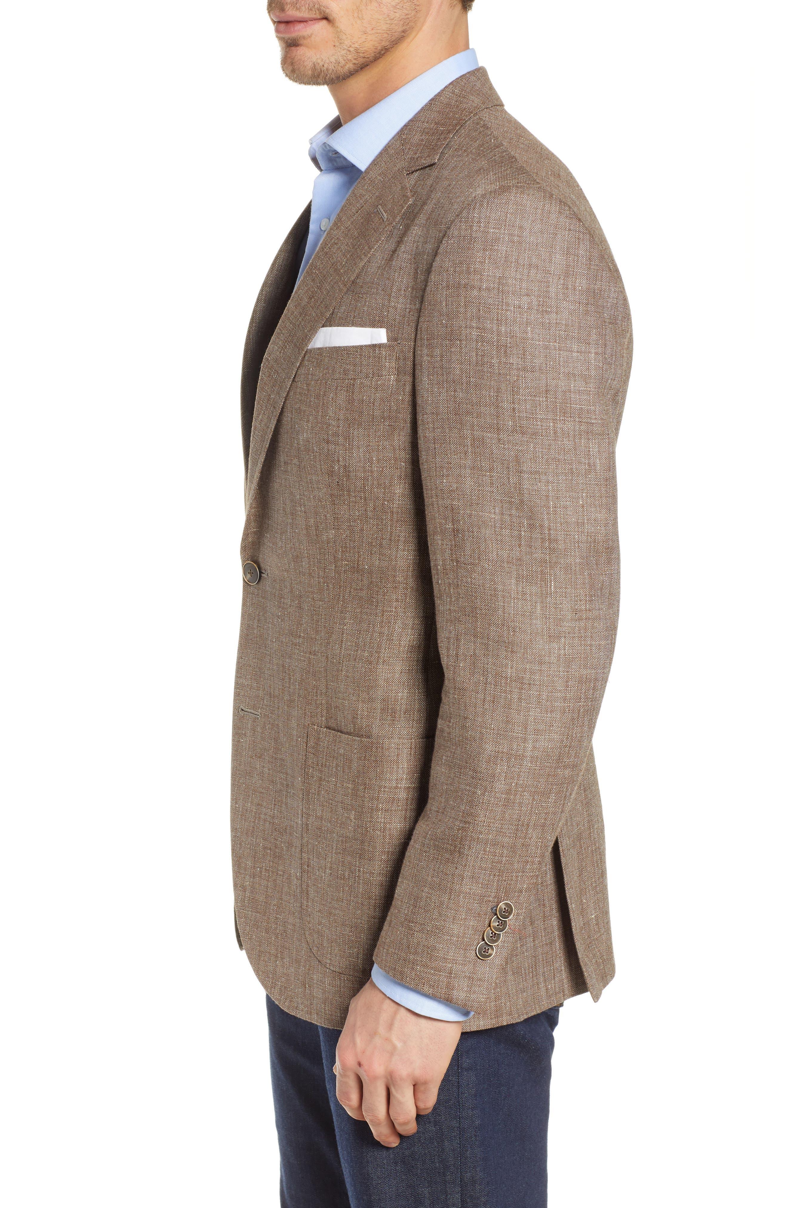 PETER MILLAR,                             Hyperlight Classic Fit Sport Coat,                             Alternate thumbnail 3, color,                             TAN