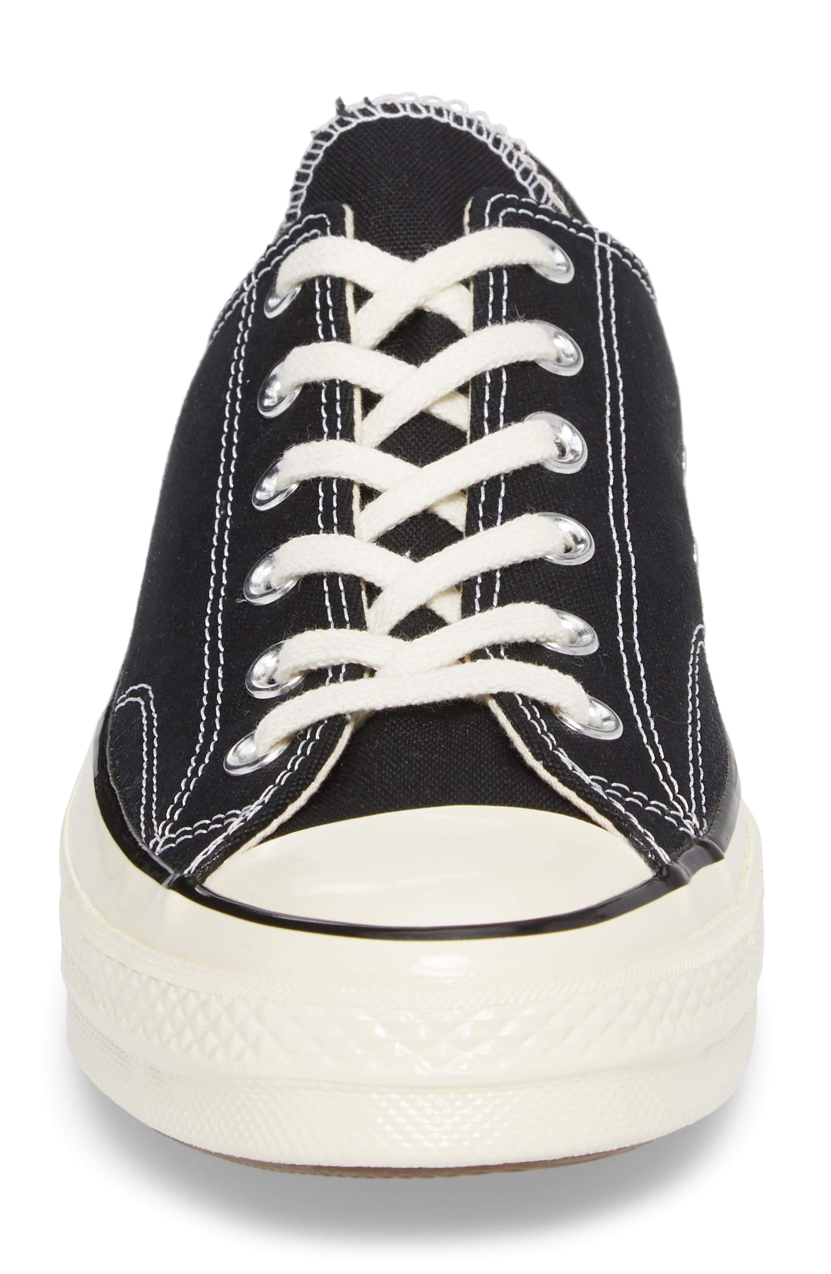 Chuck Taylor<sup>®</sup> All Star<sup>®</sup> 70 Low Top Sneaker,                             Alternate thumbnail 4, color,                             BLACK