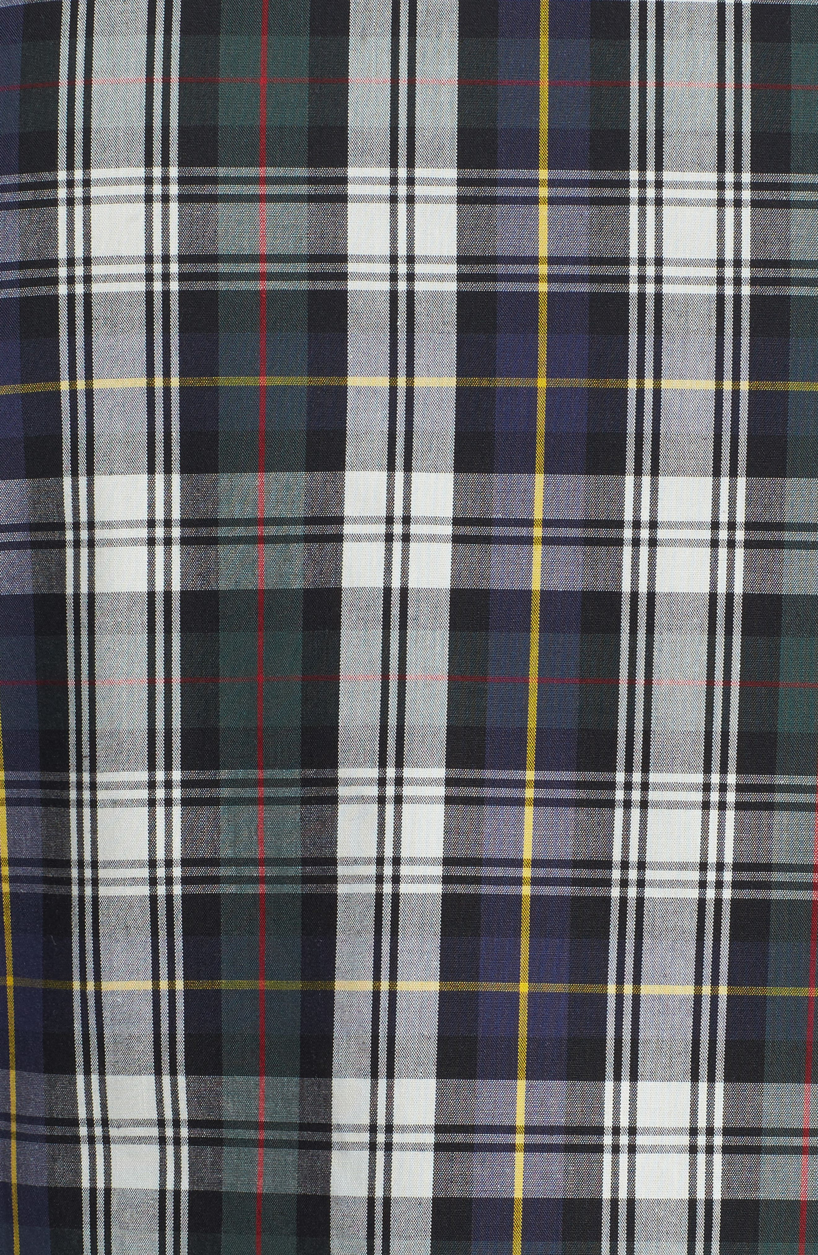 Trim Fit Non-Iron Plaid Sport Shirt,                             Alternate thumbnail 5, color,