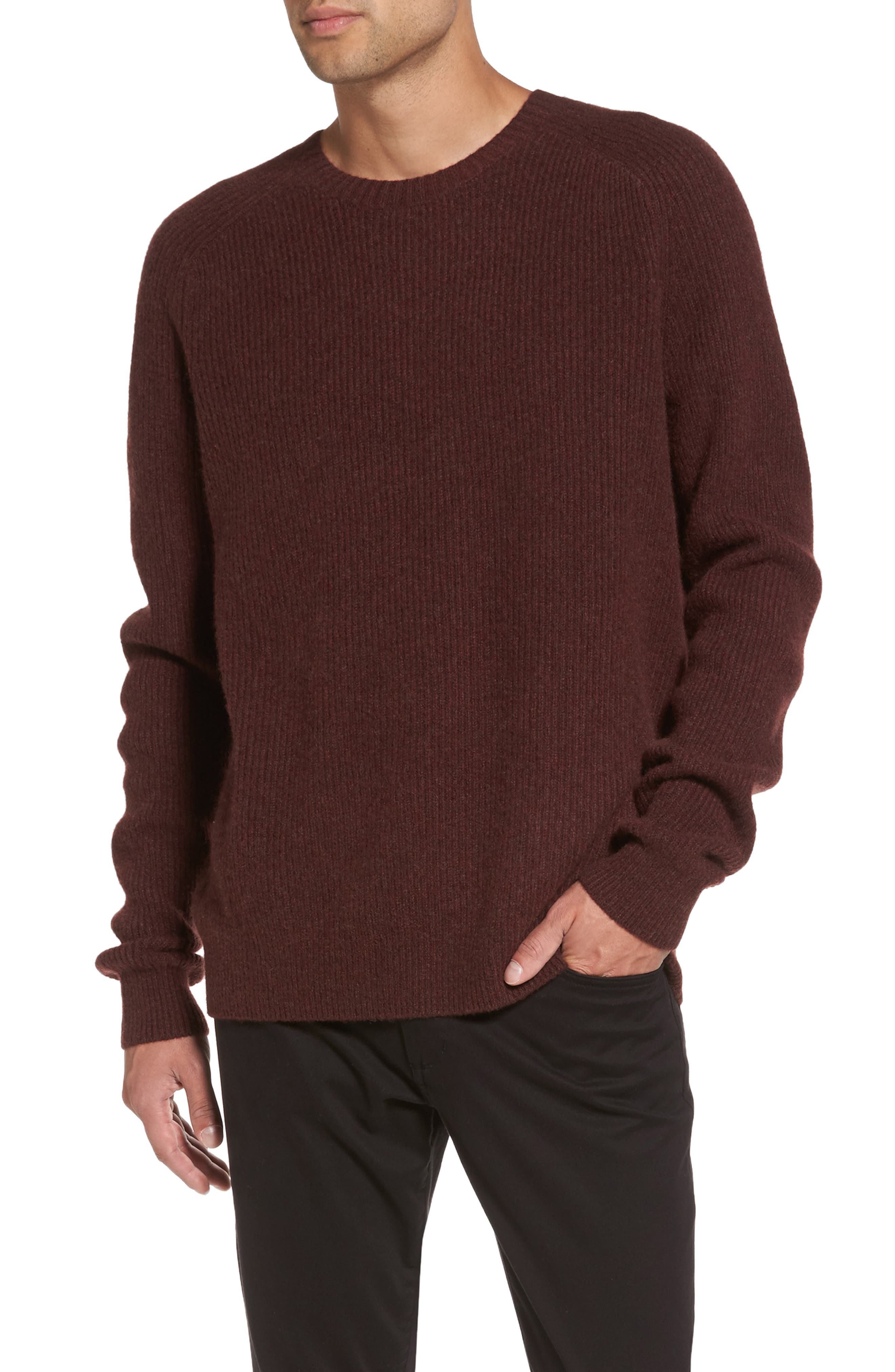 Ribbed Wool & Cashmere Raglan Sweater,                             Main thumbnail 4, color,