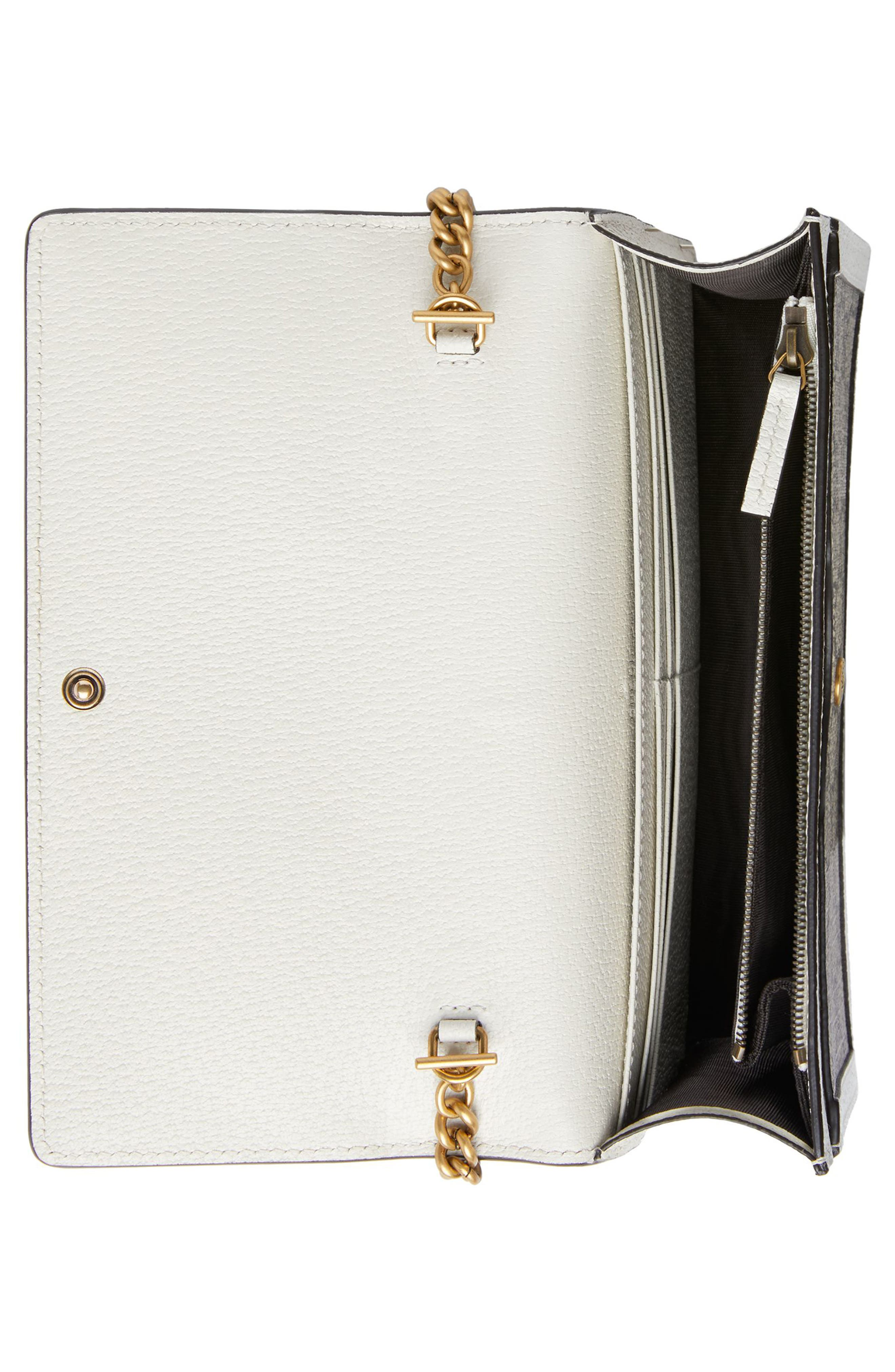 Queen Margaret GG Supreme Canvas Wallet on a Chain,                             Alternate thumbnail 3, color,                             250