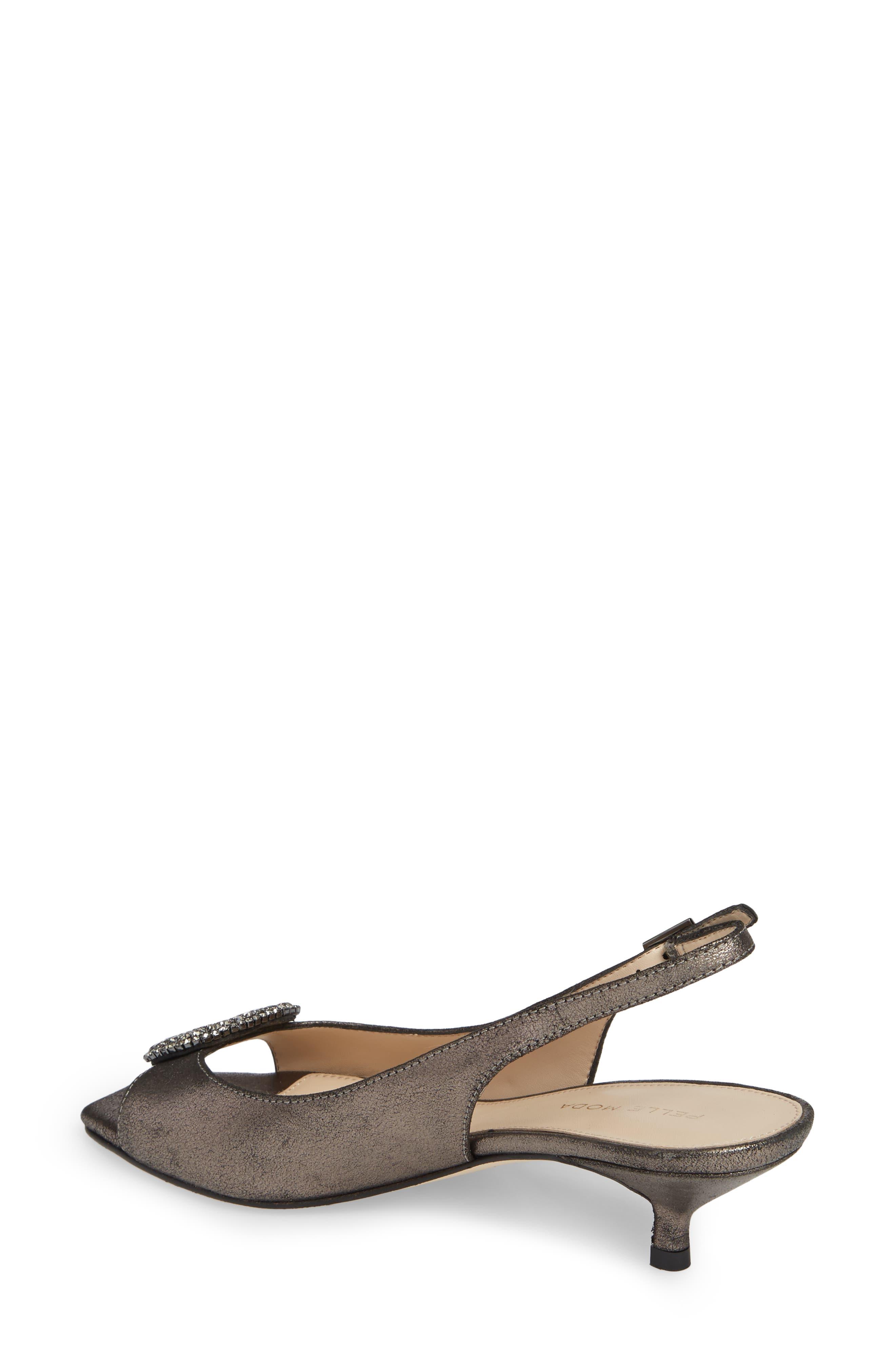 Fresca Slingback Sandal,                             Alternate thumbnail 2, color,                             PEWTER METALLIC SUEDE