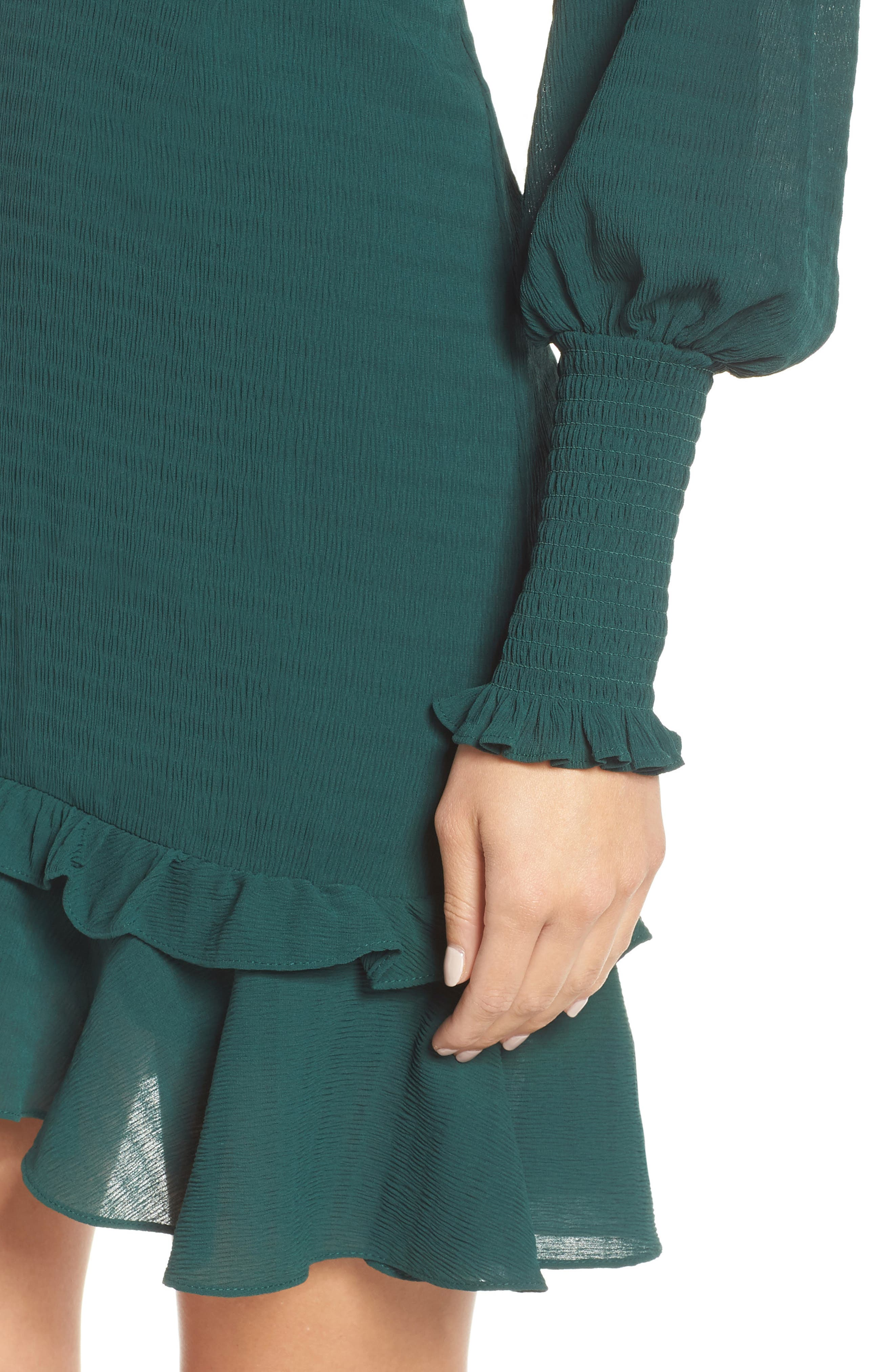 CHELSEA28, Ruffle A-Line Dress, Alternate thumbnail 5, color, 301