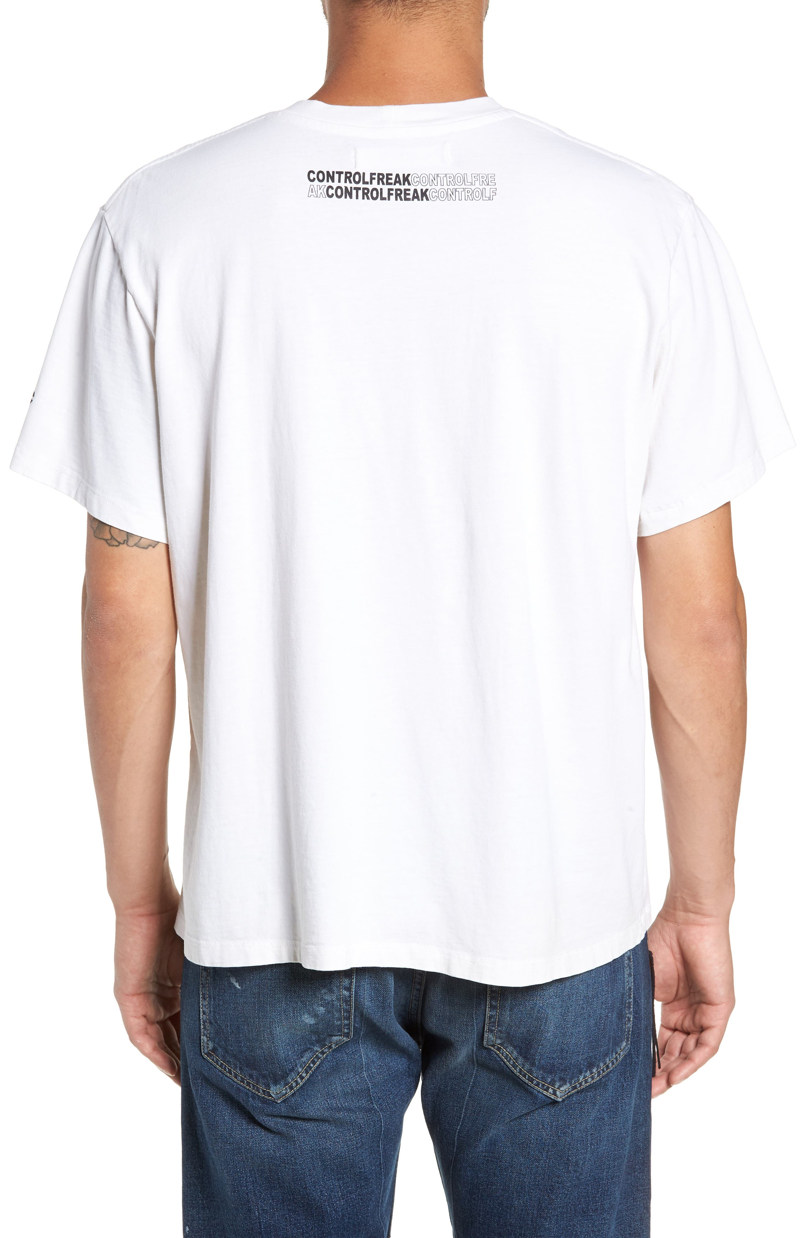 Painkiller Oversize Graphic T-Shirt,                             Alternate thumbnail 2, color,                             WHITE