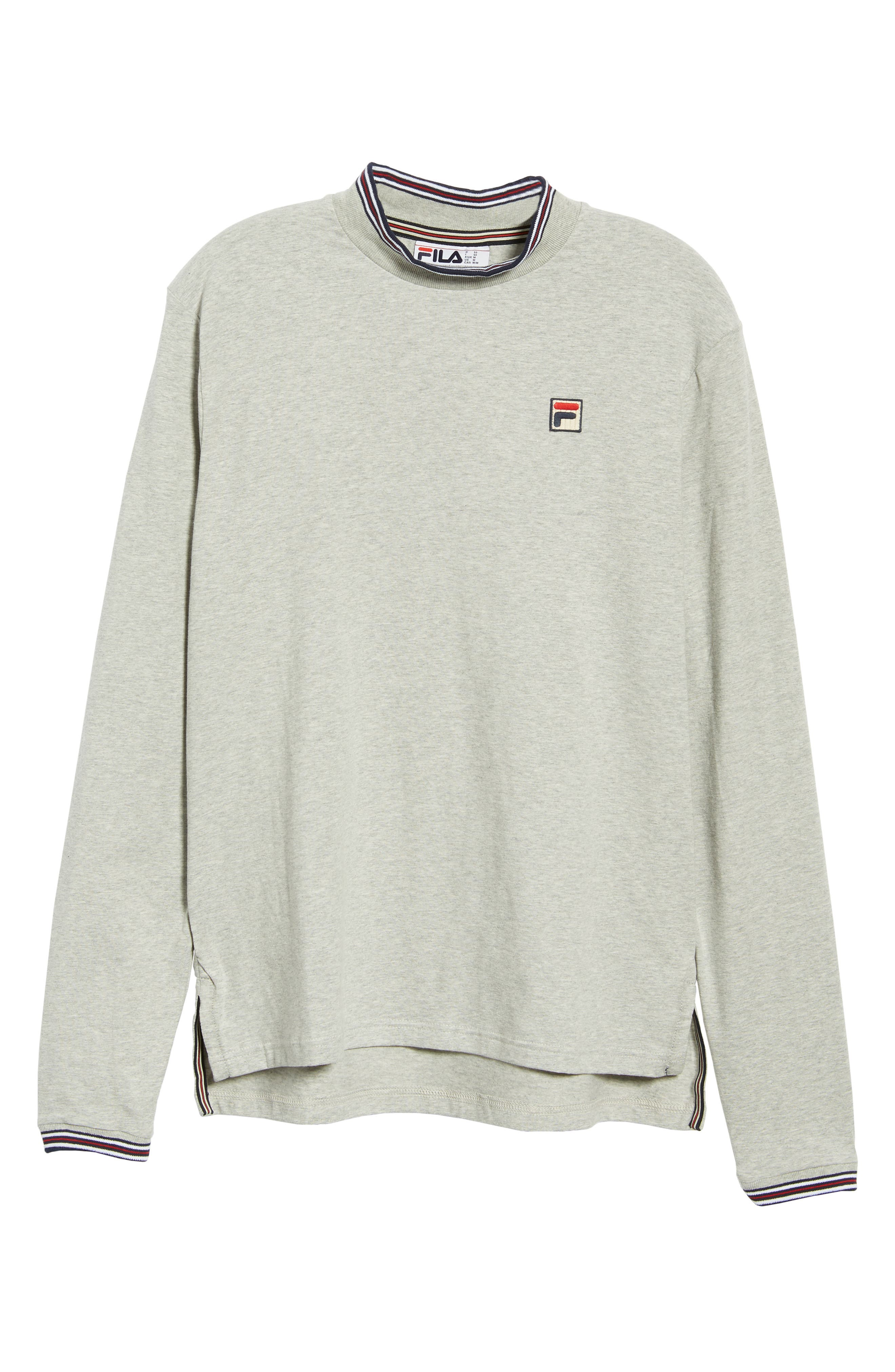 Quentin Mock Neck T-Shirt,                             Alternate thumbnail 6, color,                             LIGHT GREY