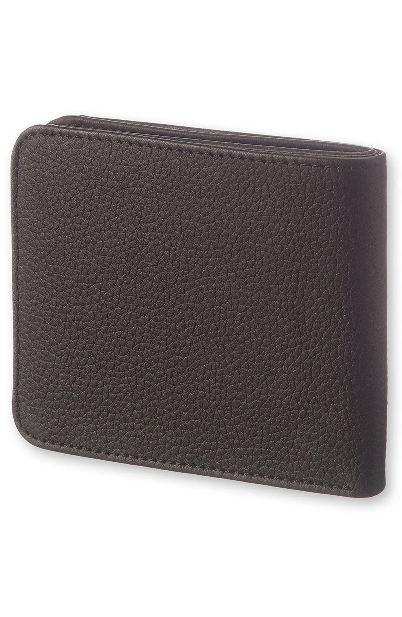 Lineage Leather Wallet,                             Alternate thumbnail 3, color,                             BLACK