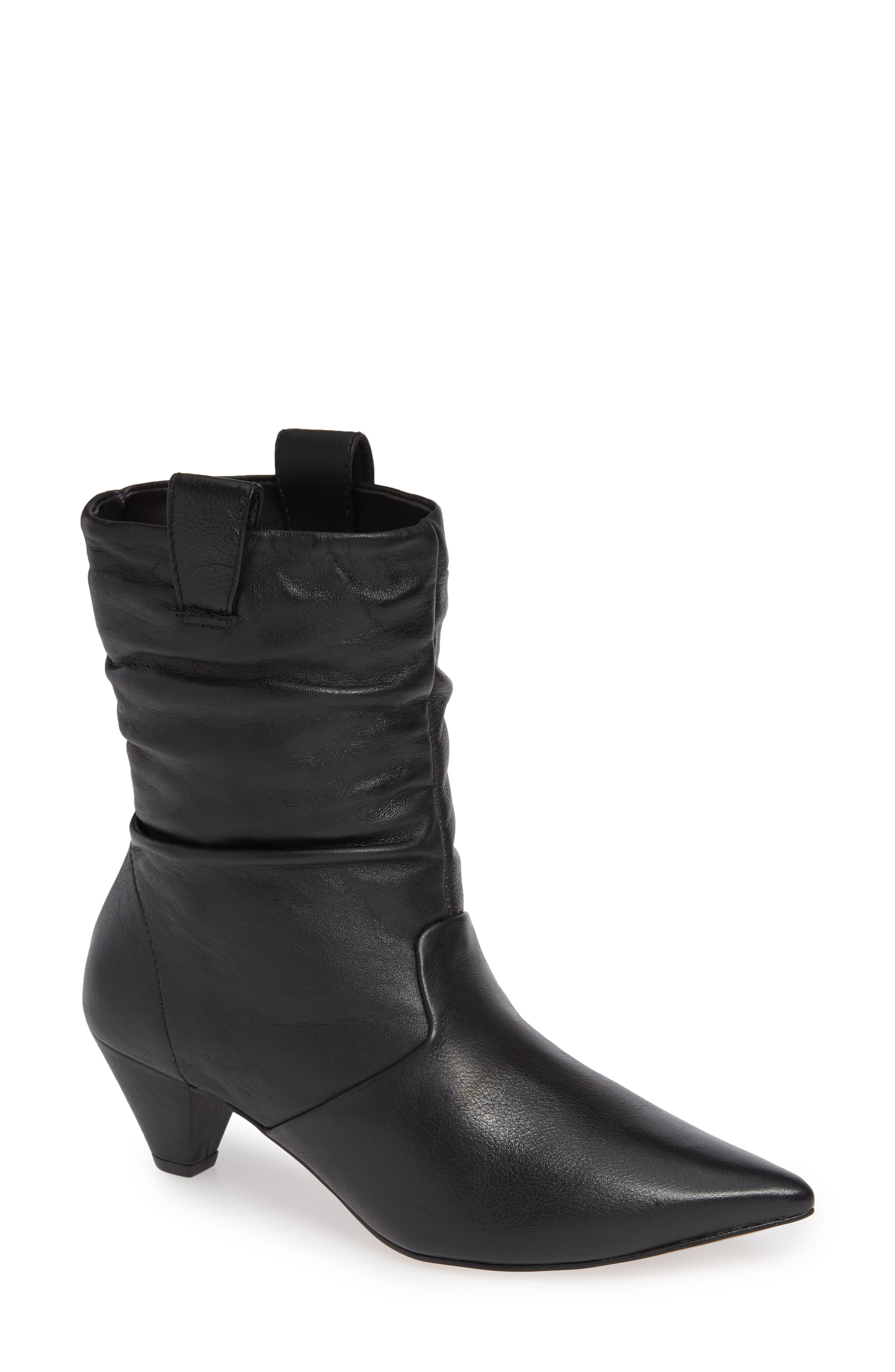 LUST FOR LIFE Plum Bootie in Black Leather