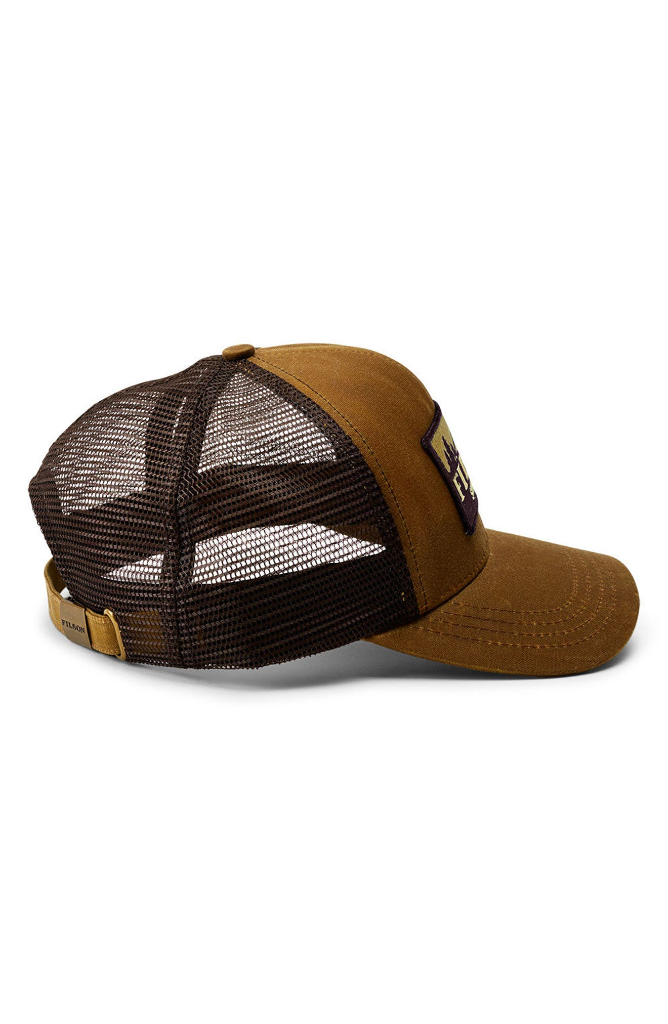 Logger Trucker Hat,                             Alternate thumbnail 2, color,                             DARK TAN