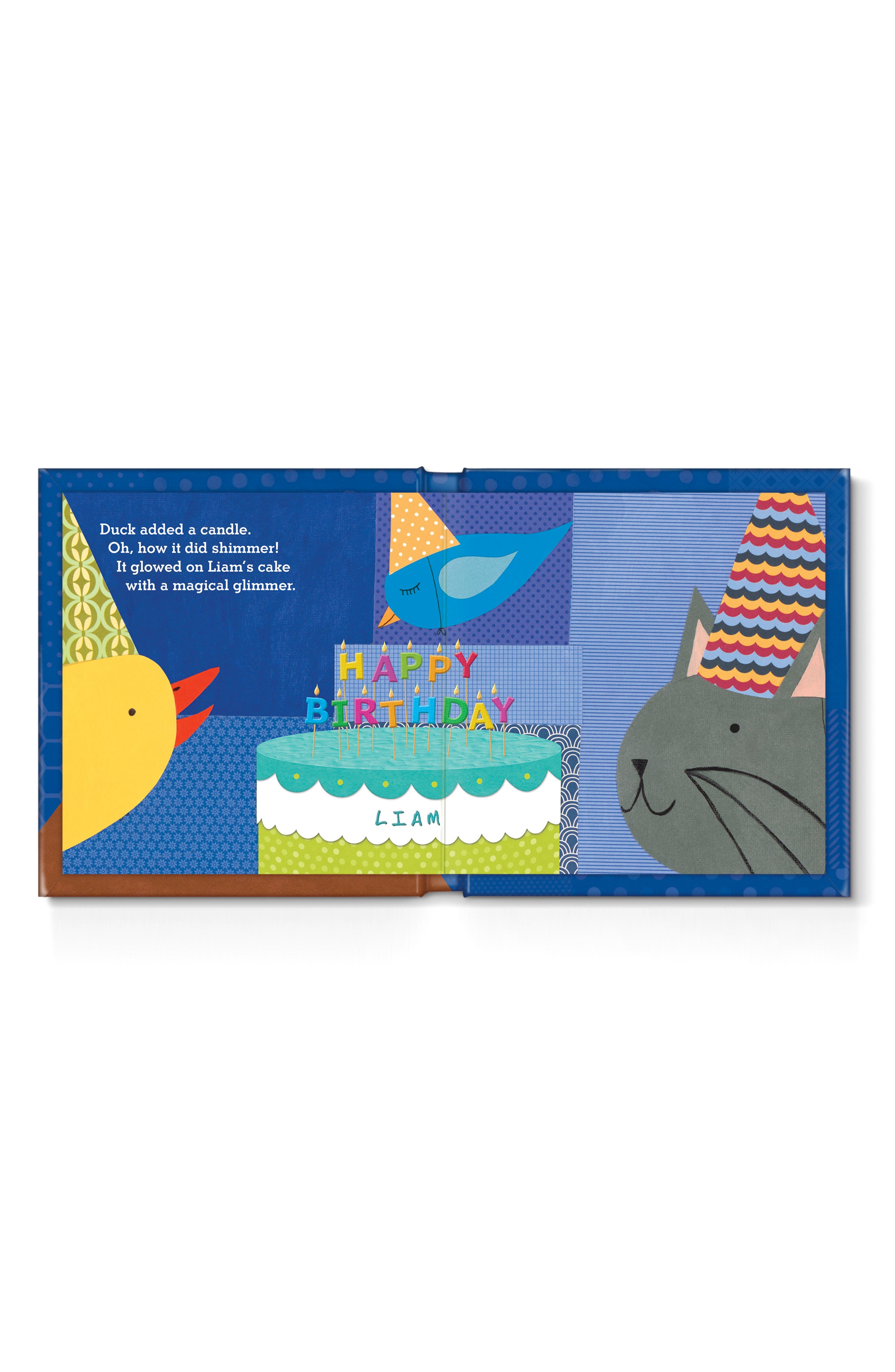 'My Very Happy Birthday' Personalized Book,                             Alternate thumbnail 3, color,                             BLUE