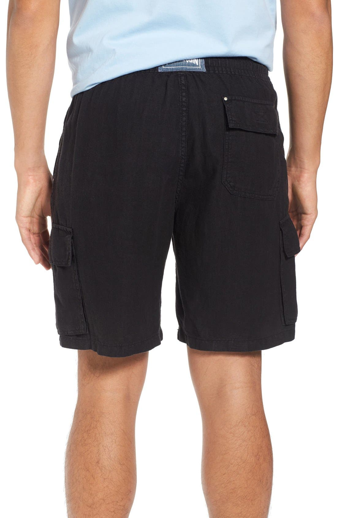 Vilbrequin Linen Cargo Shorts,                             Alternate thumbnail 2, color,                             001
