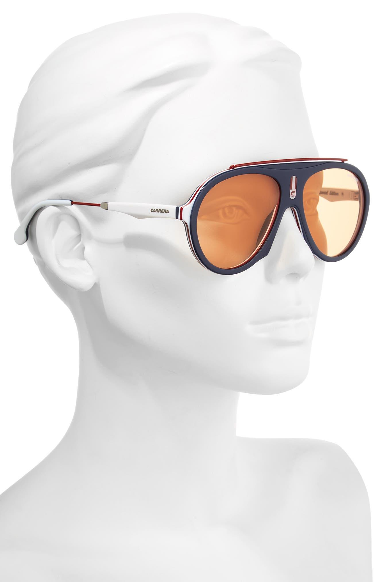 Carrera Flag 57mm Mirrored Pilot Sunglasses,                             Alternate thumbnail 11, color,