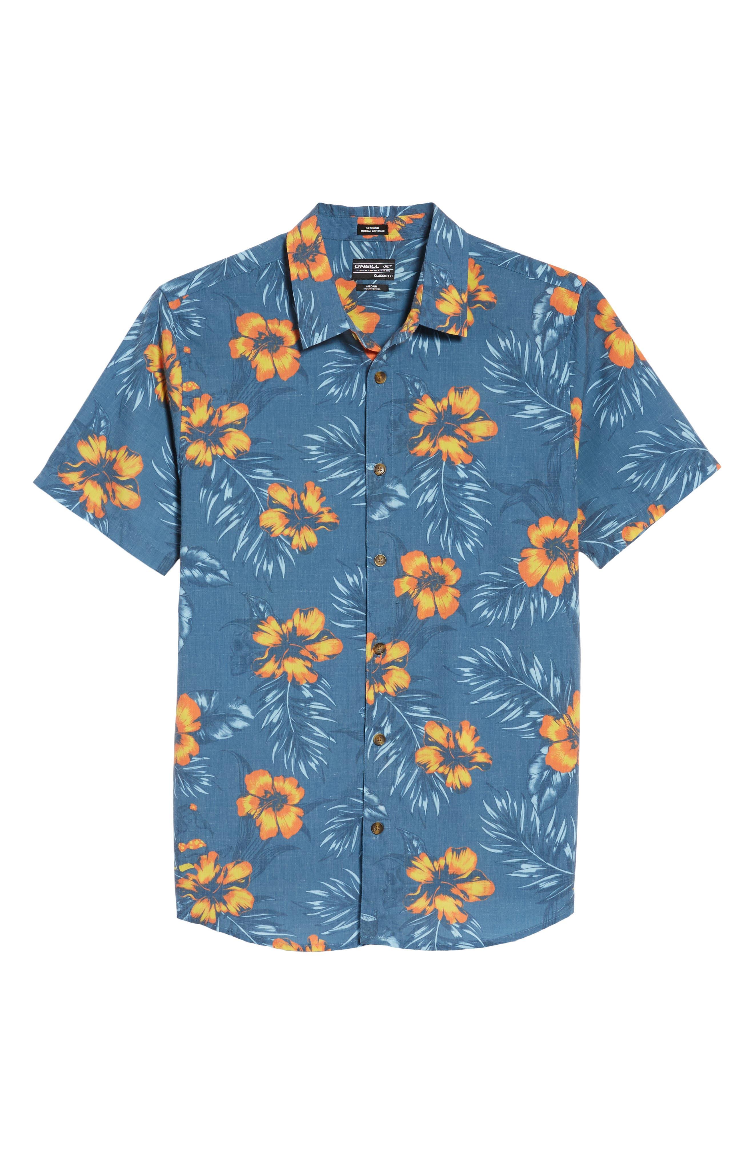 Ala Moana Floral Sport Shirt,                             Alternate thumbnail 6, color,                             439