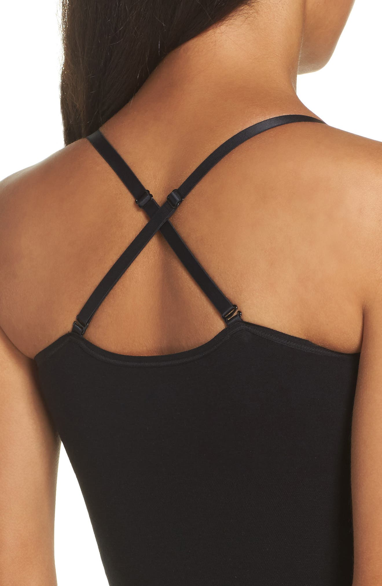 Seamlessly Shaped Convertible Camisole,                             Alternate thumbnail 4, color,                             BLACK