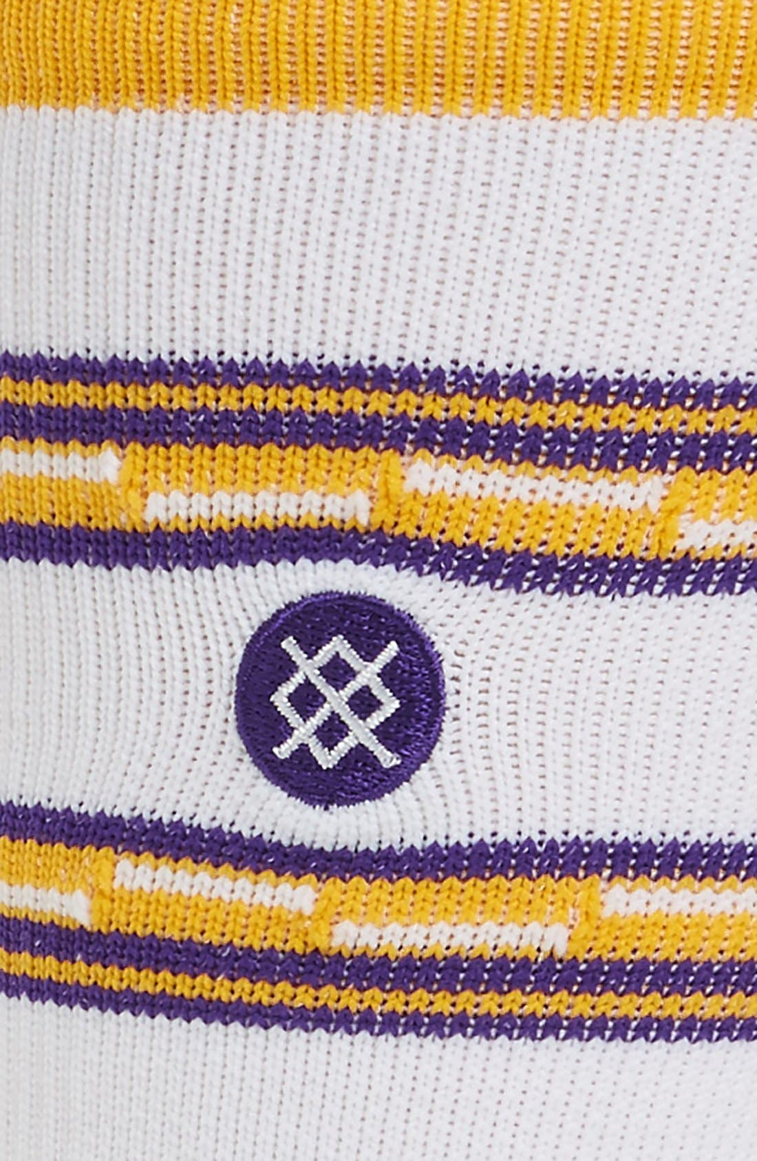 NBA On Court Lakers Core Crew Socks,                             Alternate thumbnail 2, color,                             100