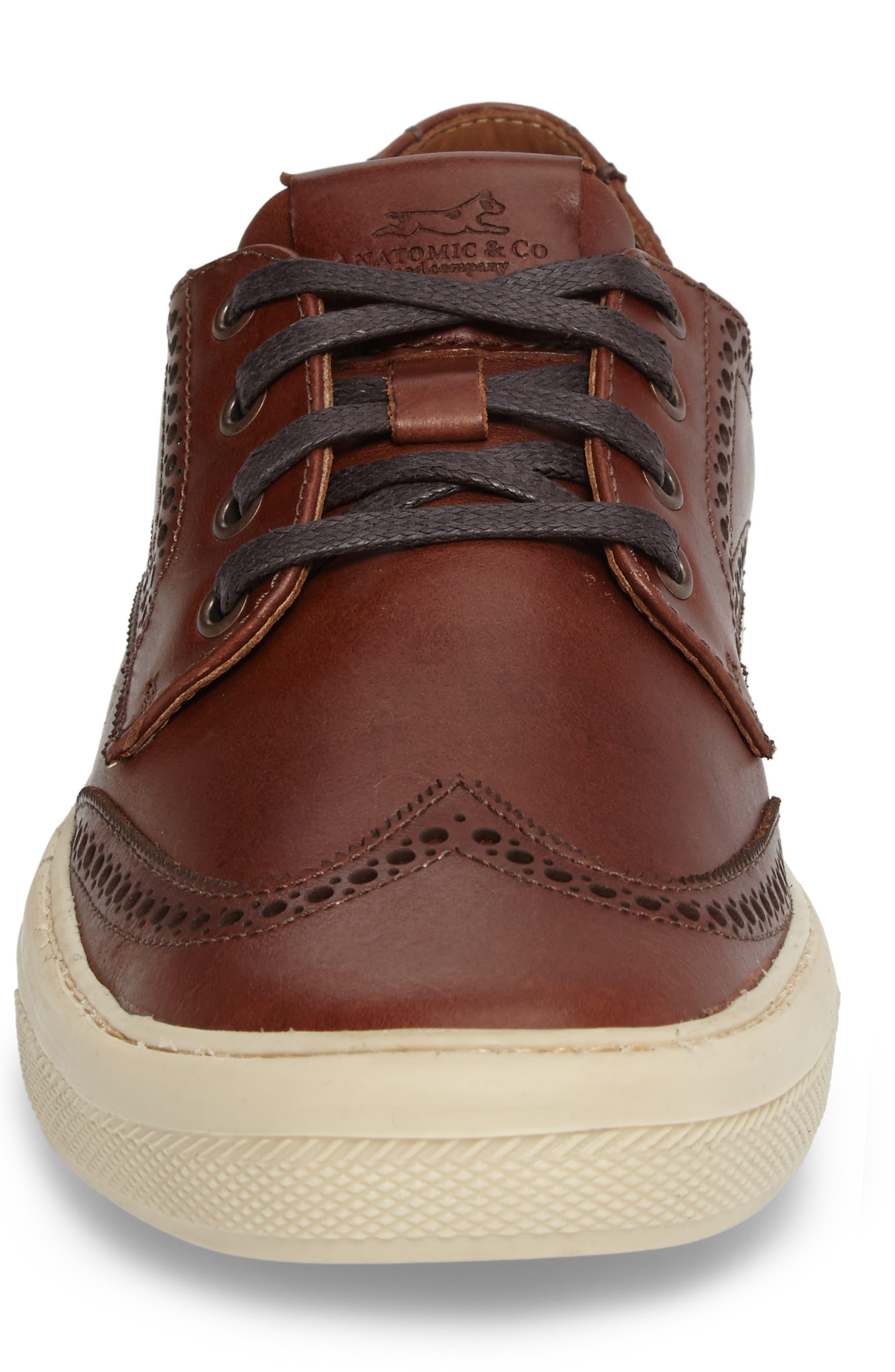 Bariri Wingtip Sneaker,                             Alternate thumbnail 4, color,                             200