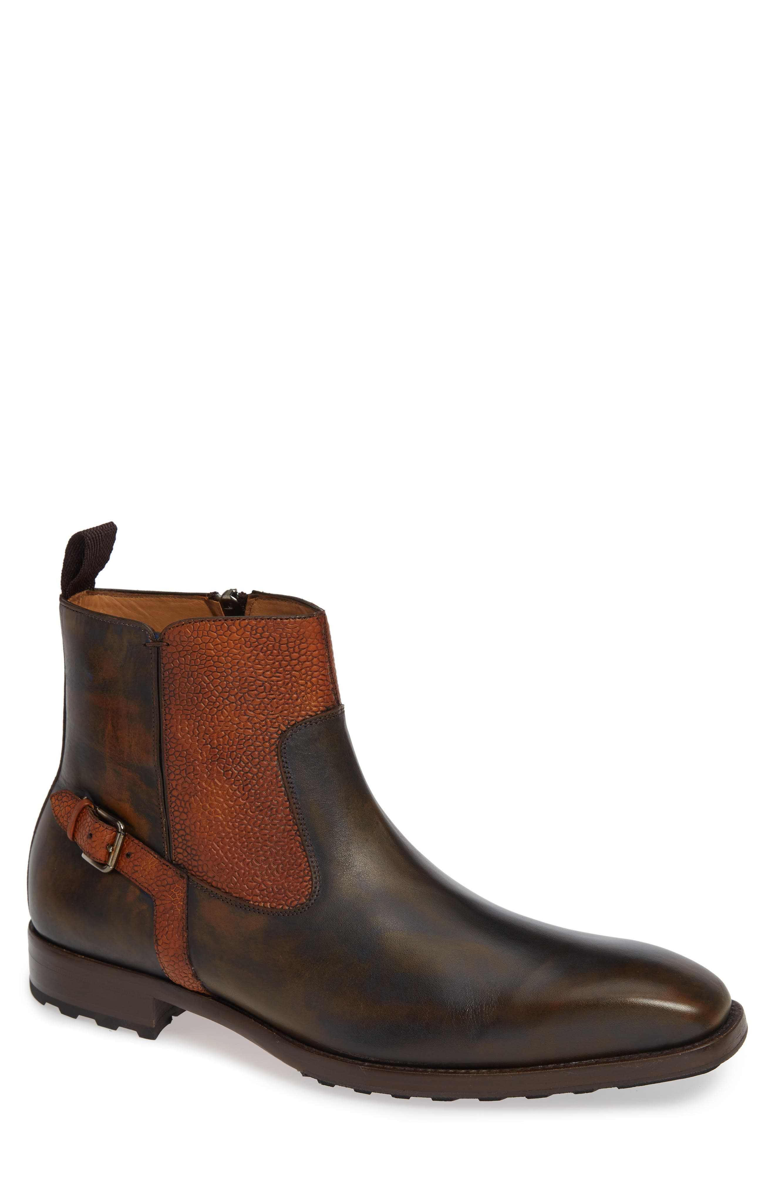 Mezlan Pitt Mixed Finish Boot, Brown