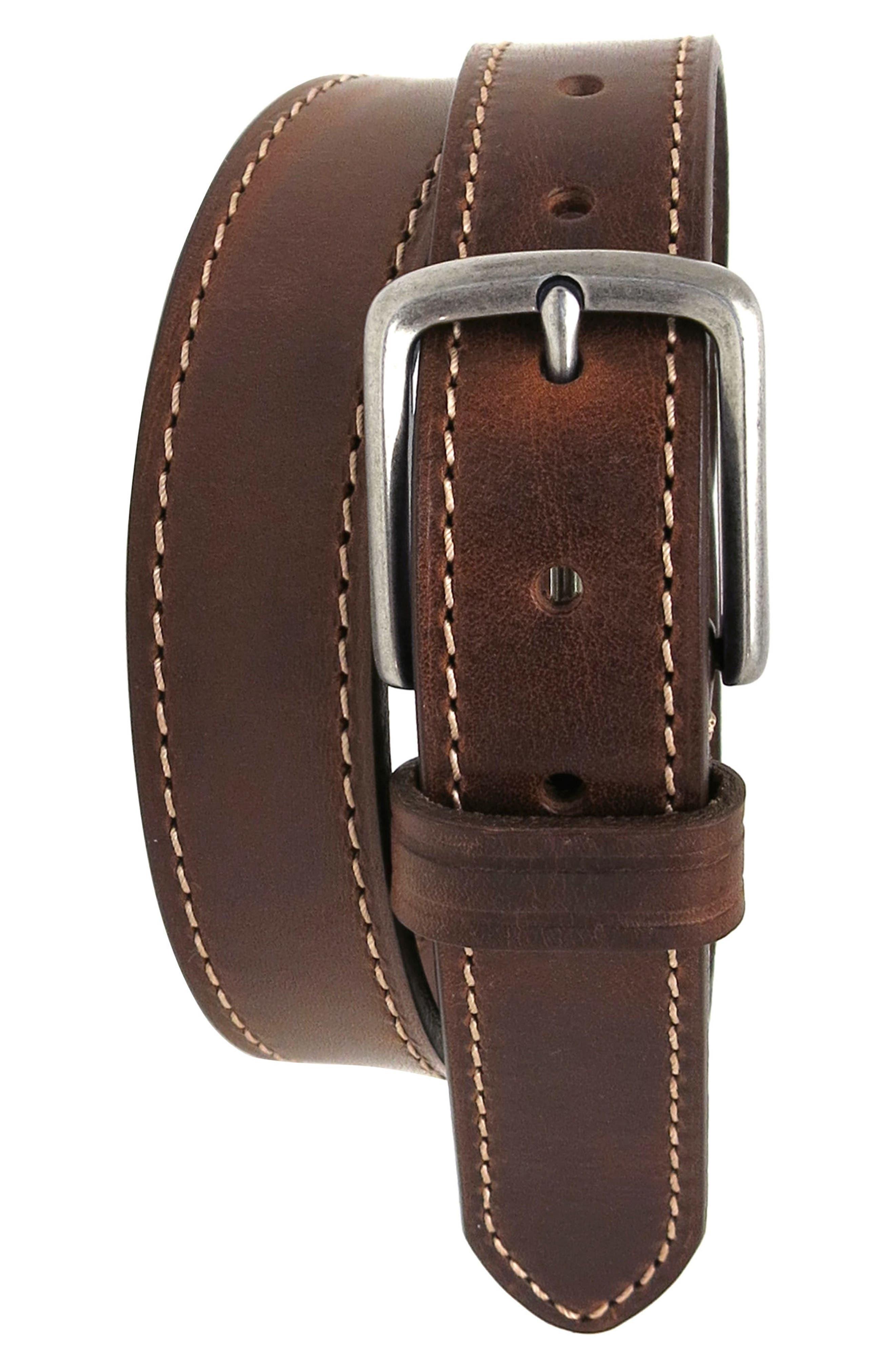 Boconi Leather Belt, Cognac