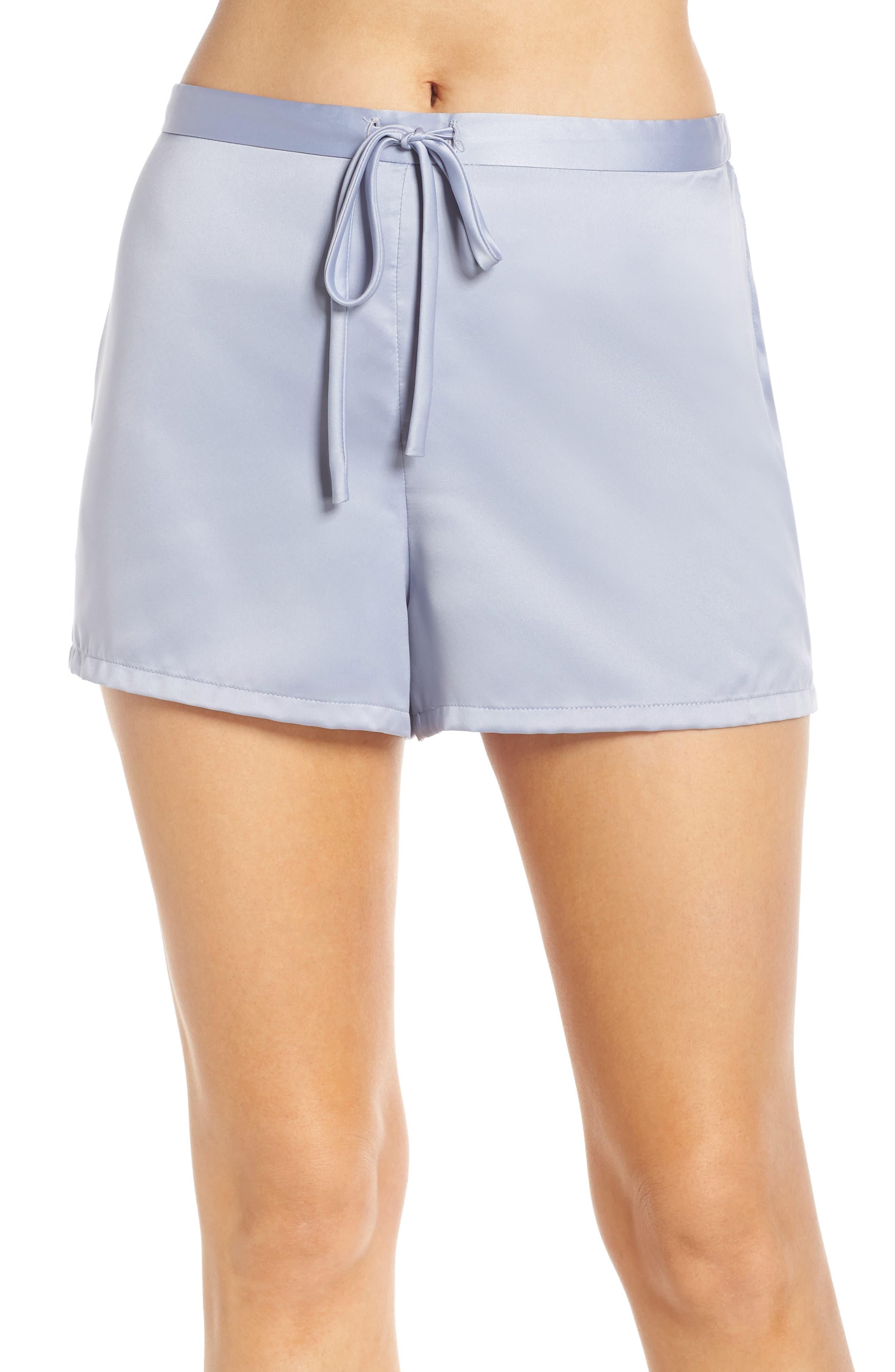 Natori Satin Elements Pajama Shorts, Blue