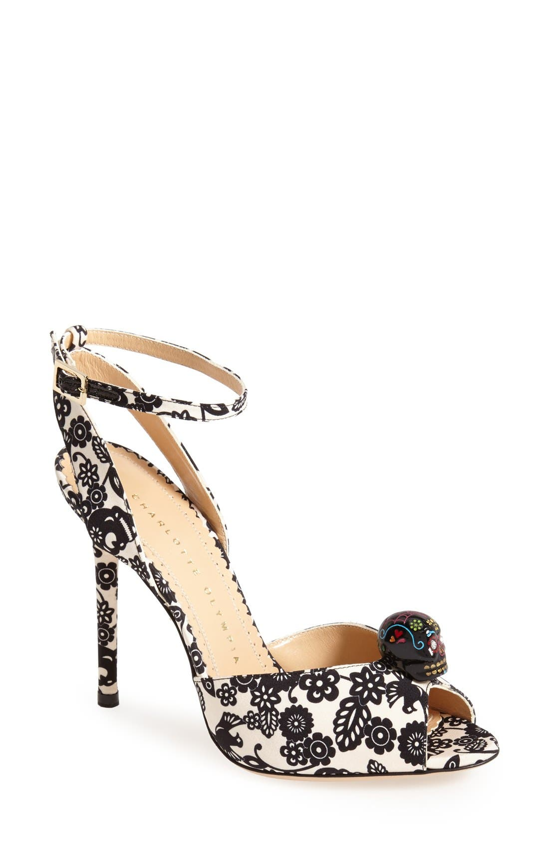 'Sophia' Ankle Strap Sandal,                         Main,                         color, 001