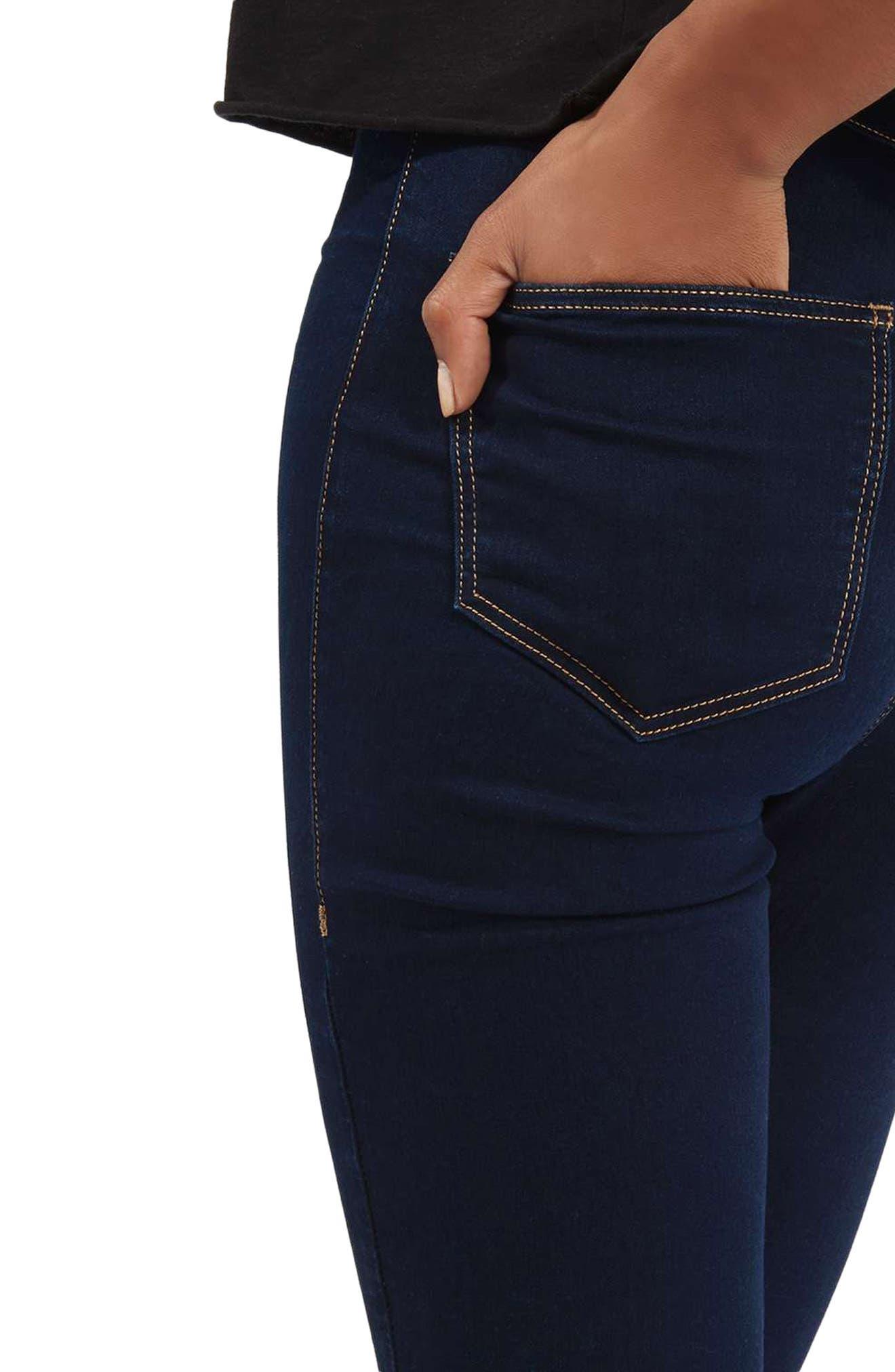 TOPSHOP,                             Joni High Waist Skinny Jeans,                             Alternate thumbnail 3, color,                             400