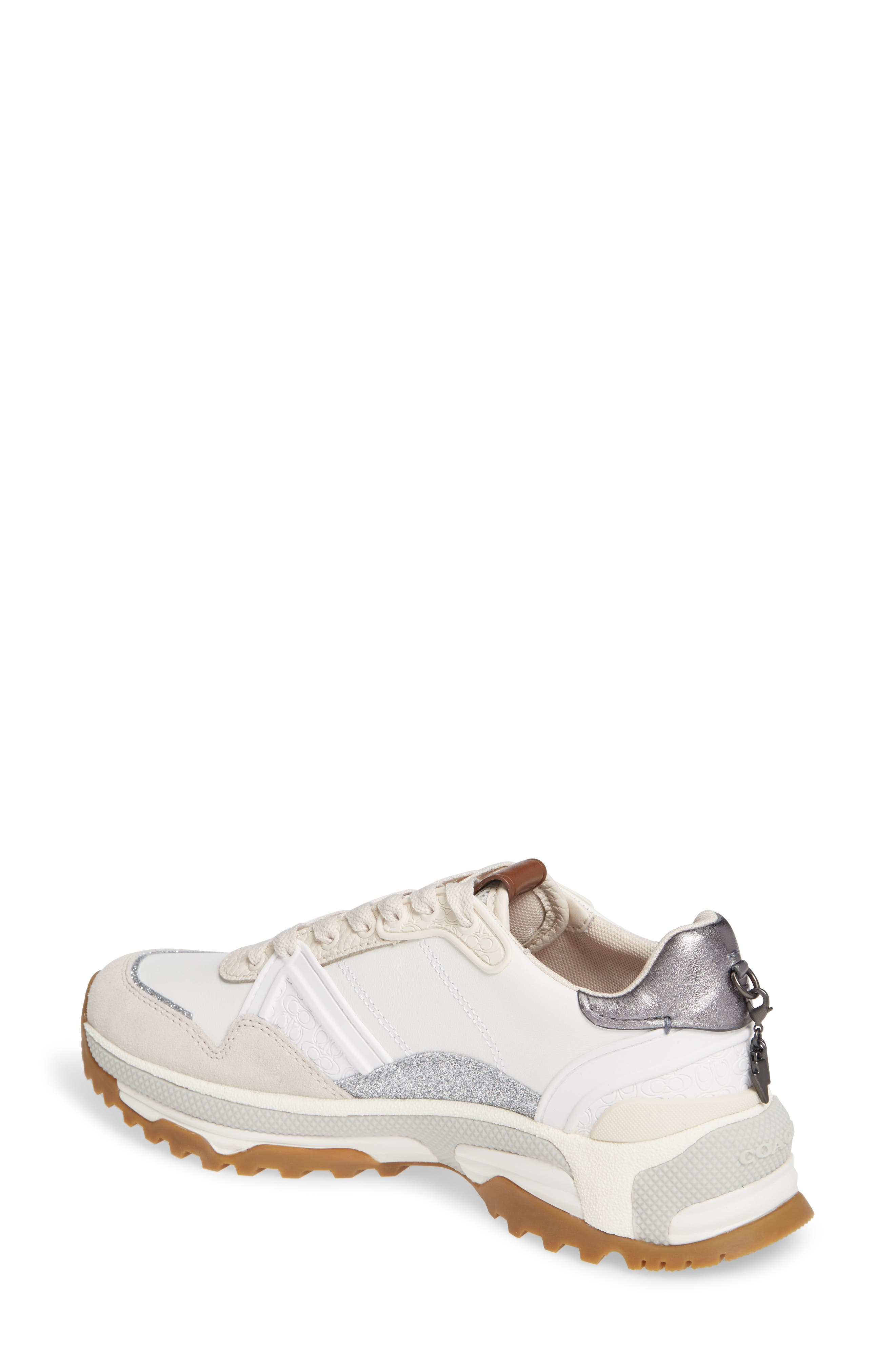GLT Sneaker,                             Alternate thumbnail 2, color,                             WHITE LEATHER/ SUEDE