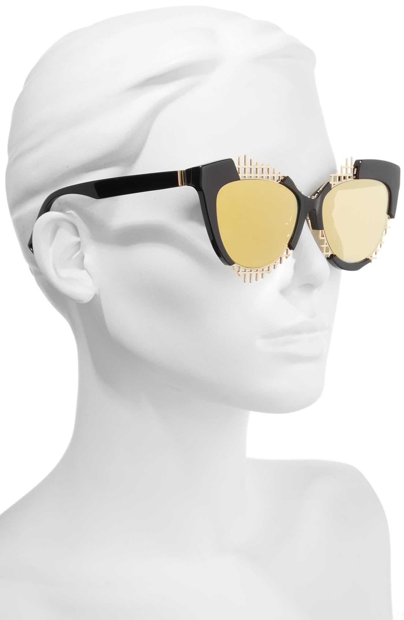 Voz 55mm Cat Eye Sunglasses,                             Alternate thumbnail 4, color,