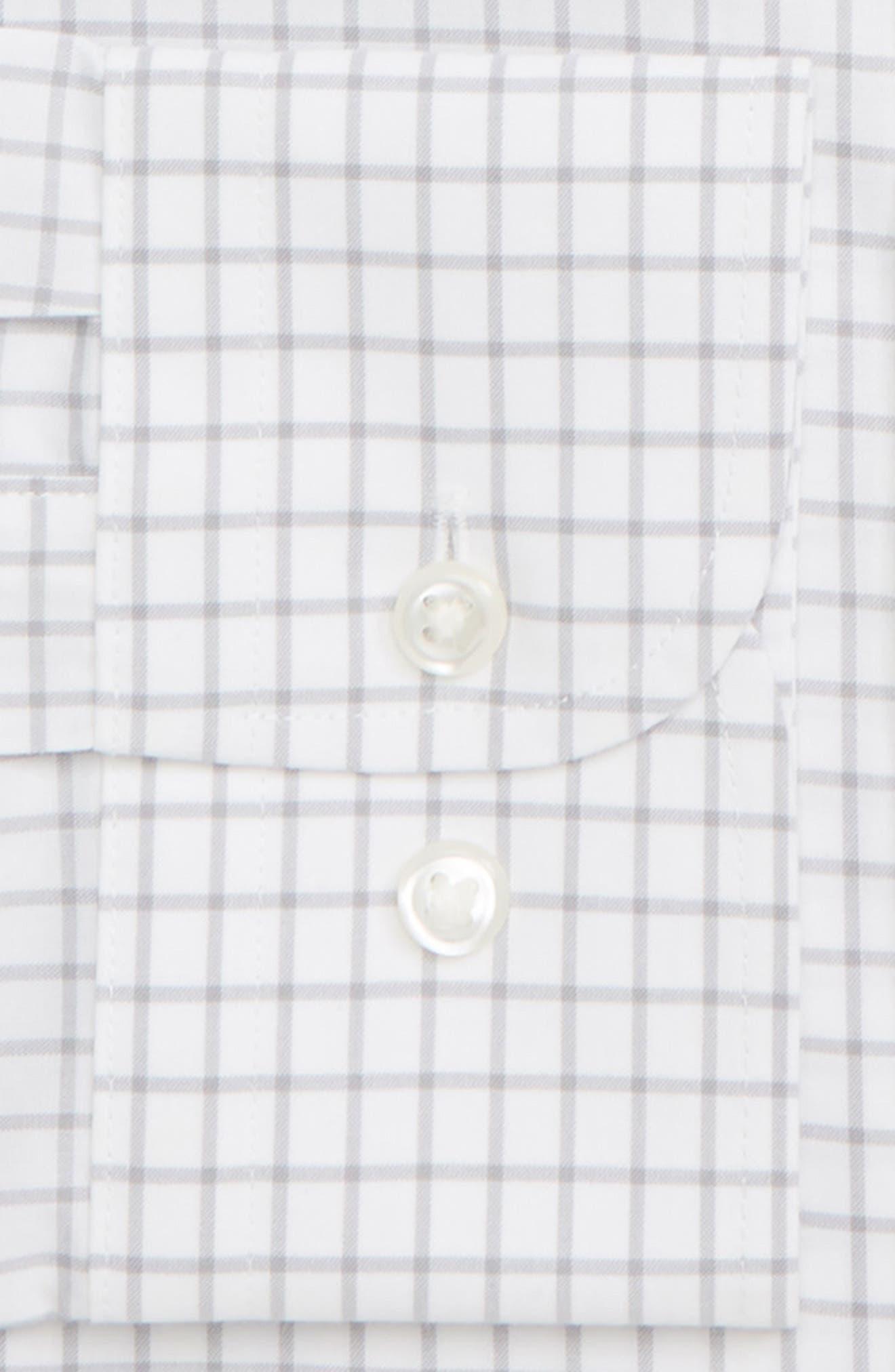 NORDSTROM MEN'S SHOP,                             Smartcare<sup>™</sup> Trim Fit Check Dress Shirt,                             Alternate thumbnail 2, color,                             GREY ALLOY