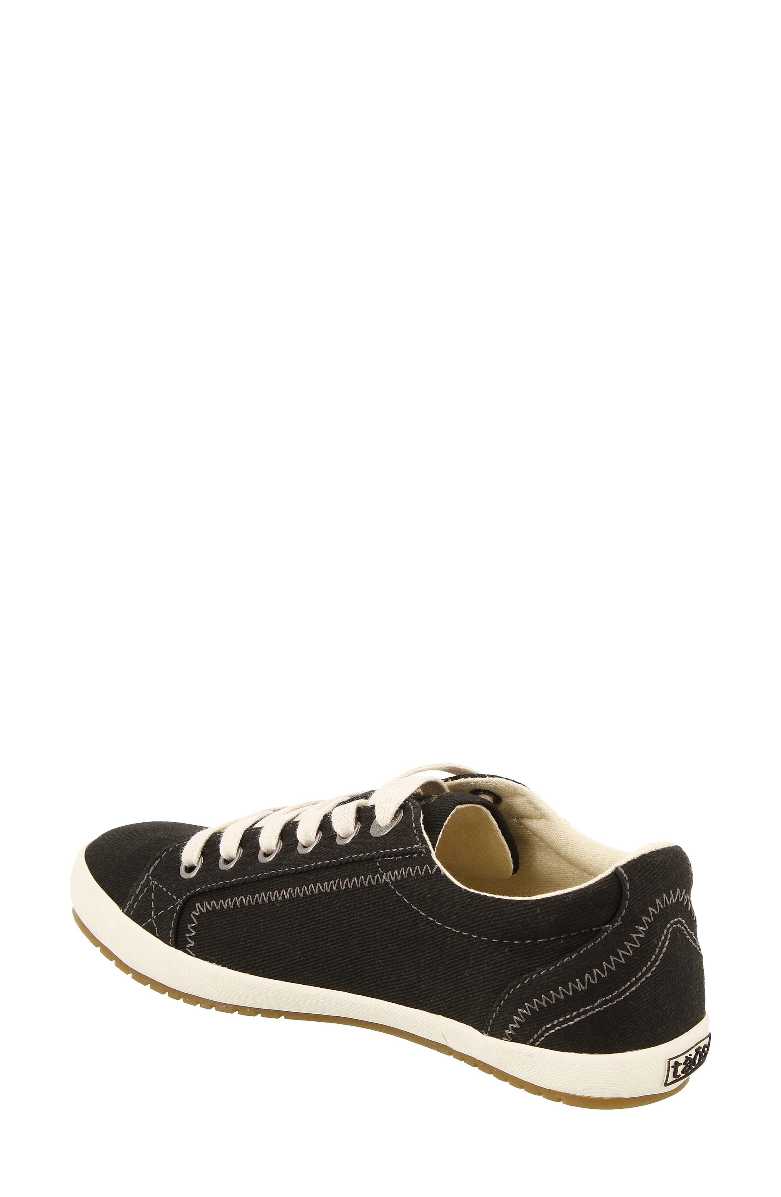 'Star' Sneaker,                             Alternate thumbnail 2, color,                             BLACK CANVAS