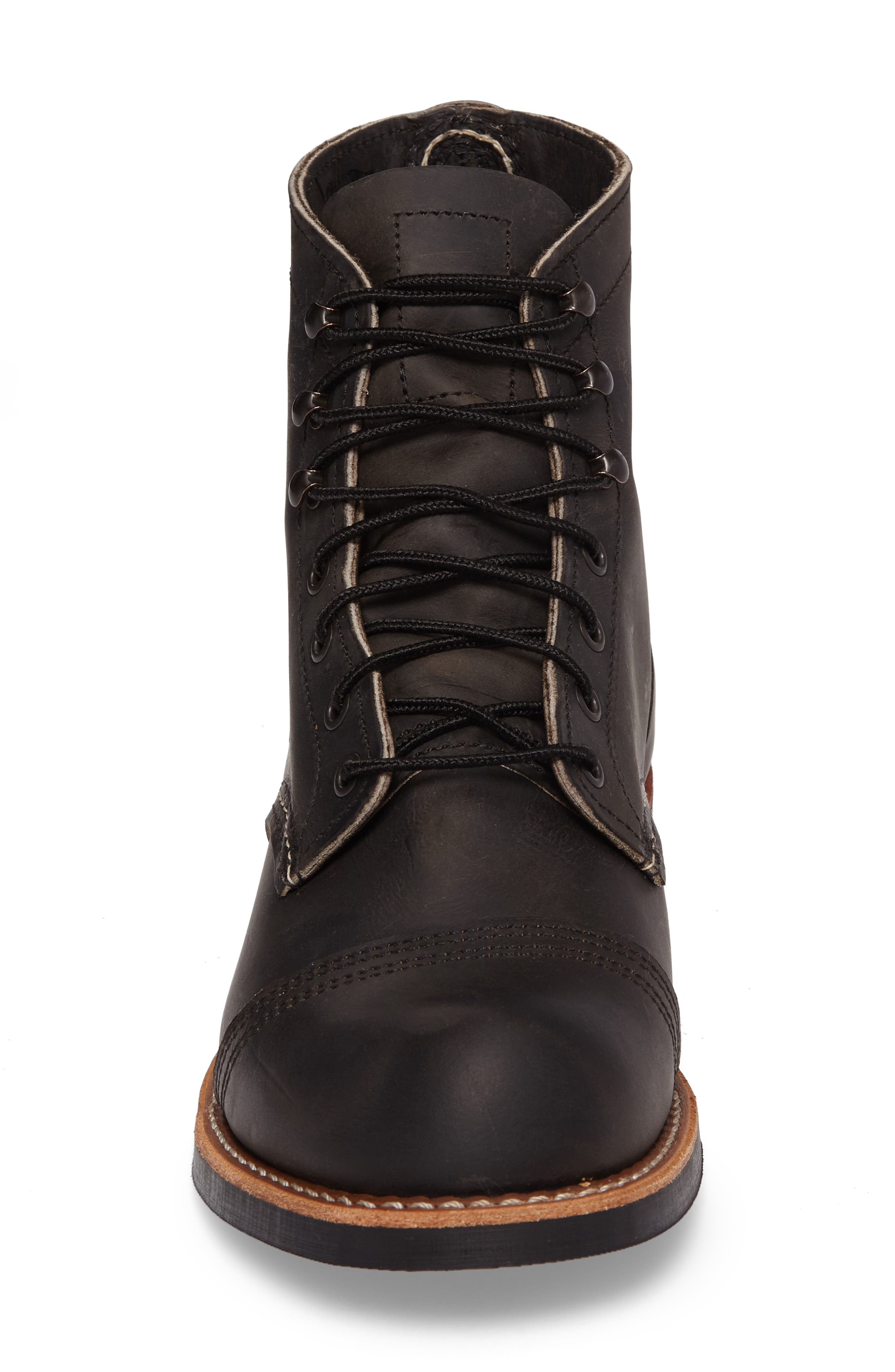 Iron Ranger Cap Toe Boot,                             Alternate thumbnail 4, color,                             CHARCOAL LEATHER
