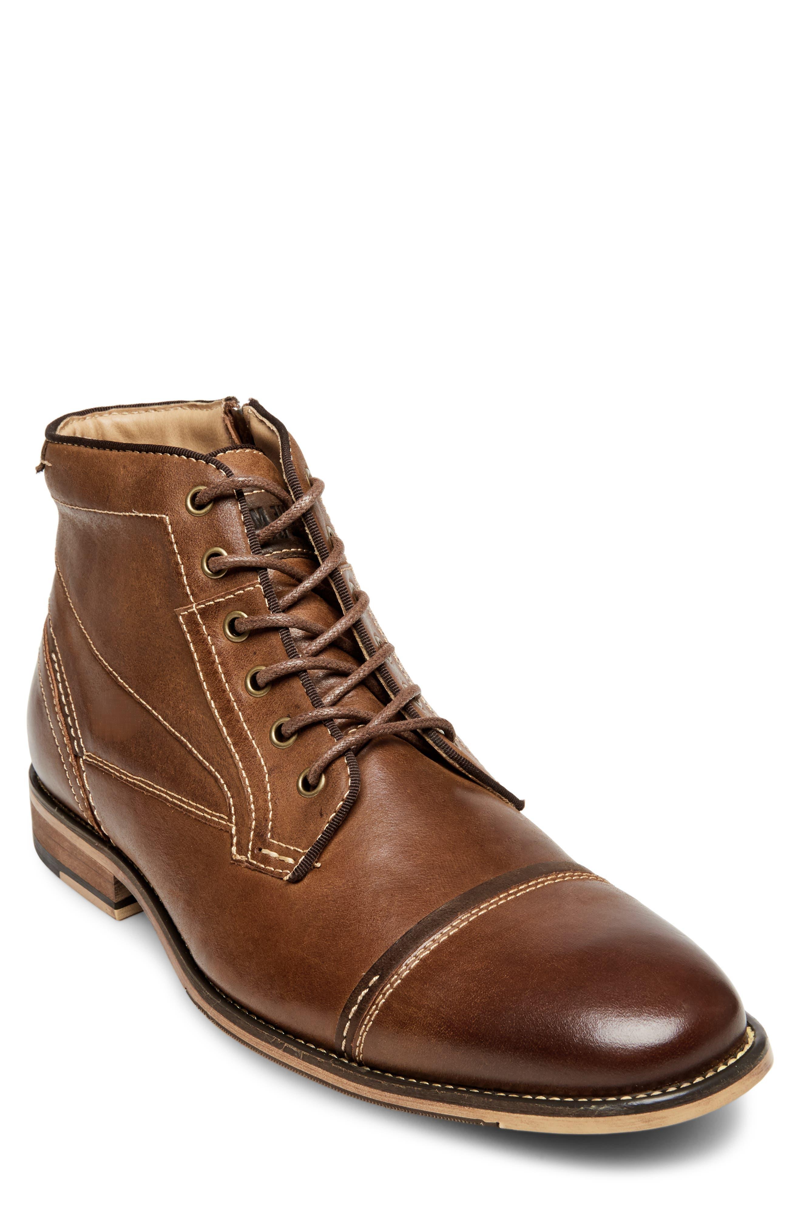 Jeffries Cap Toe Boot,                         Main,                         color, DARK TAN