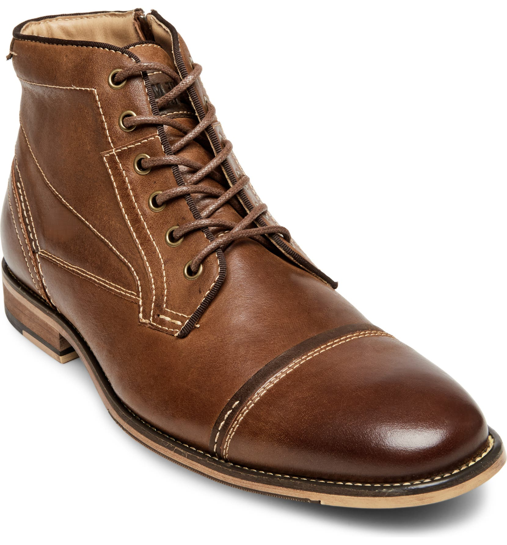 7e1eebdd3eb Steve Madden Jeffries Cap Toe Boot (Men)