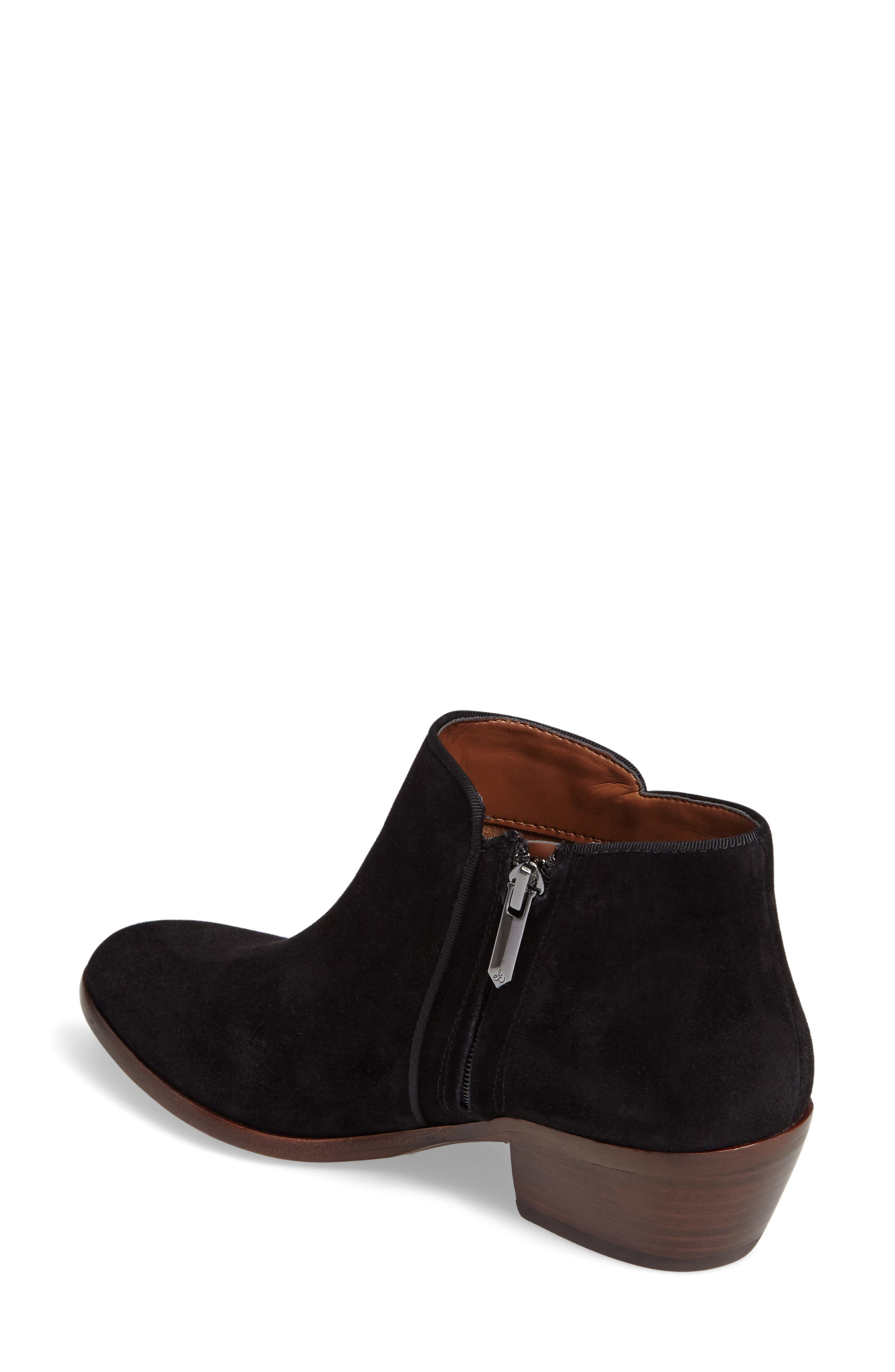 'Petty' Chelsea Boot,                             Alternate thumbnail 3, color,                             BLACK SUEDE