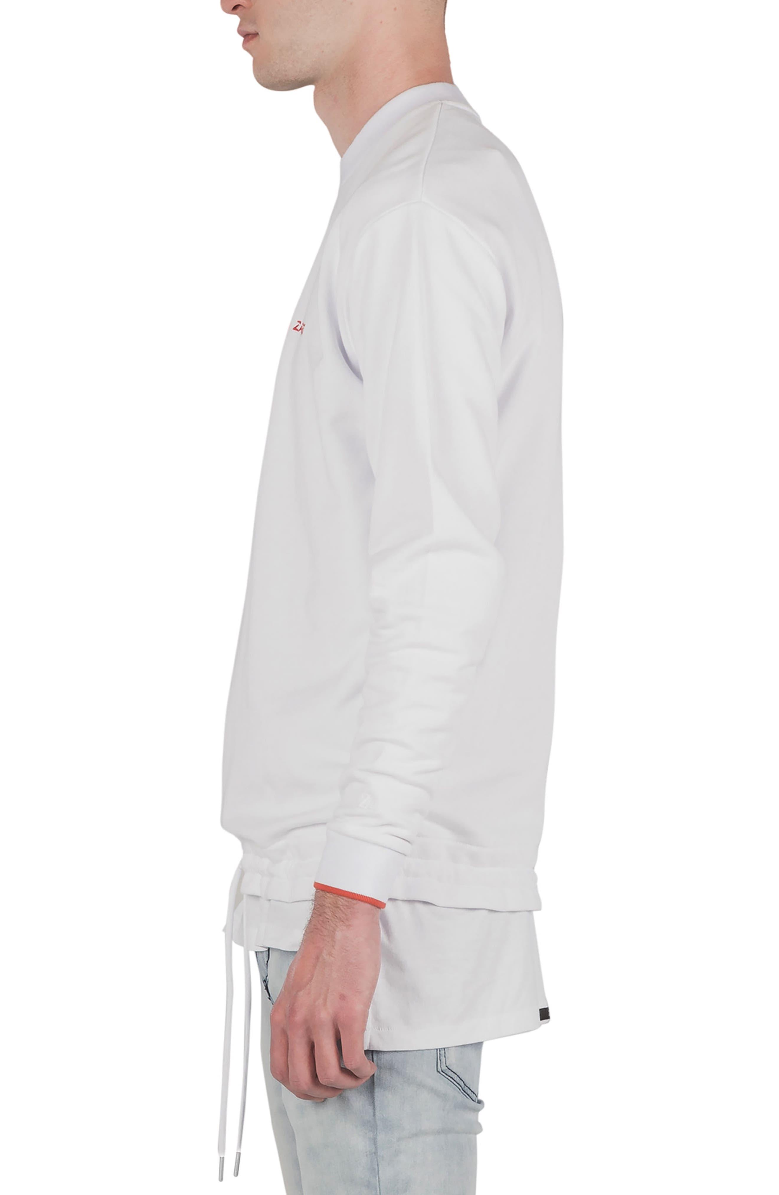 League Boxy Sweatshirt,                             Alternate thumbnail 3, color,                             WHITE