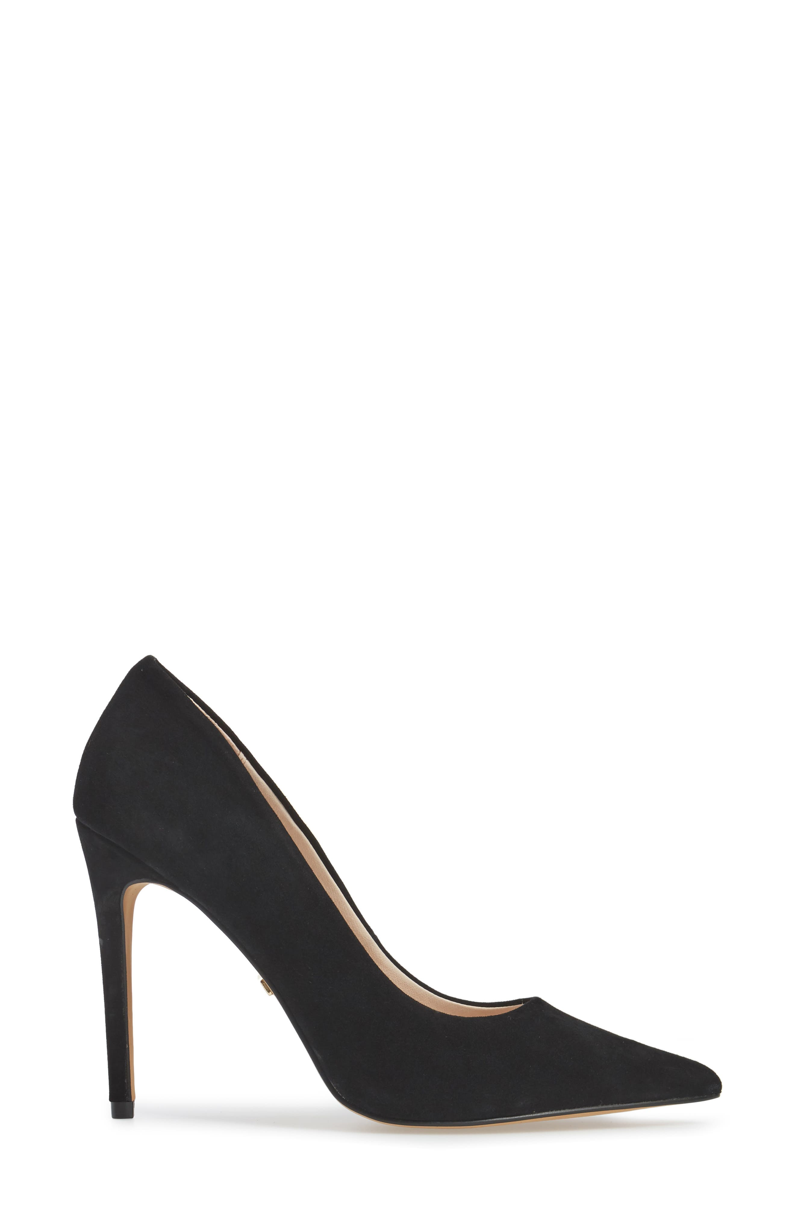 TOPSHOP,                             Grammer Pointy Toe Pump,                             Alternate thumbnail 3, color,                             001