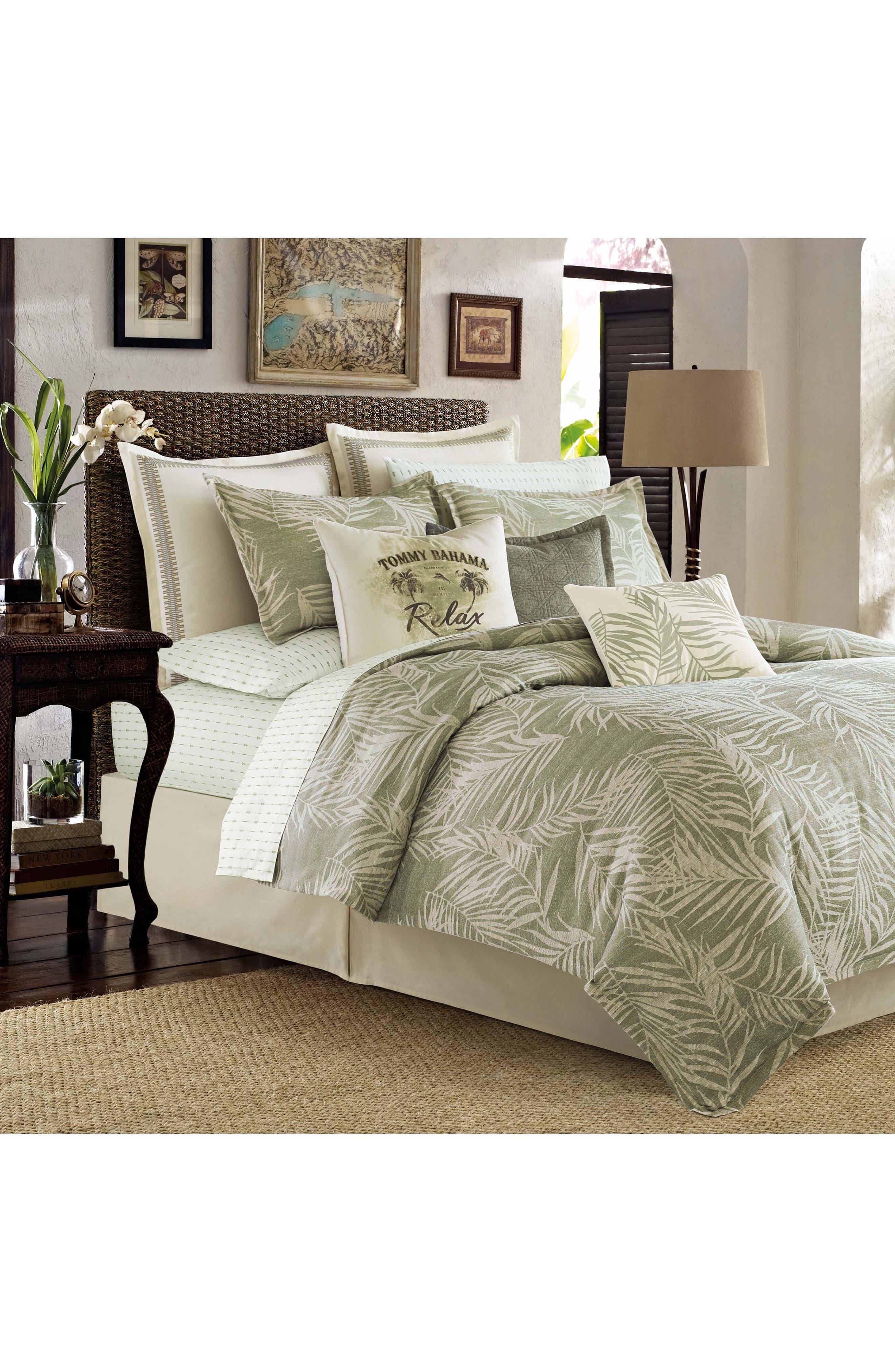 Palms Away Comforter, Sham & Bed Skirt Set,                             Main thumbnail 1, color,                             300