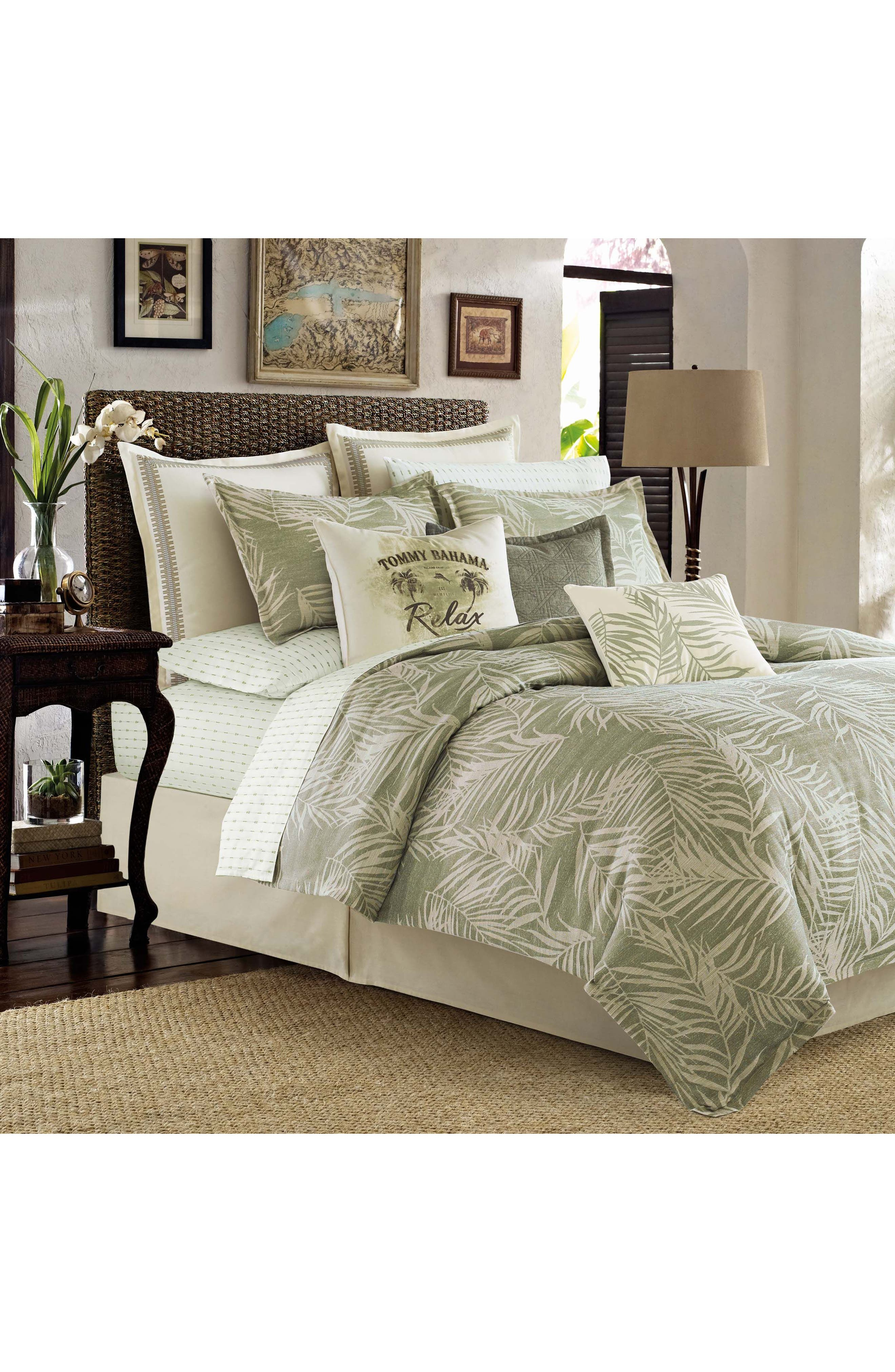 Palms Away Comforter, Sham & Bed Skirt Set,                         Main,                         color, 300