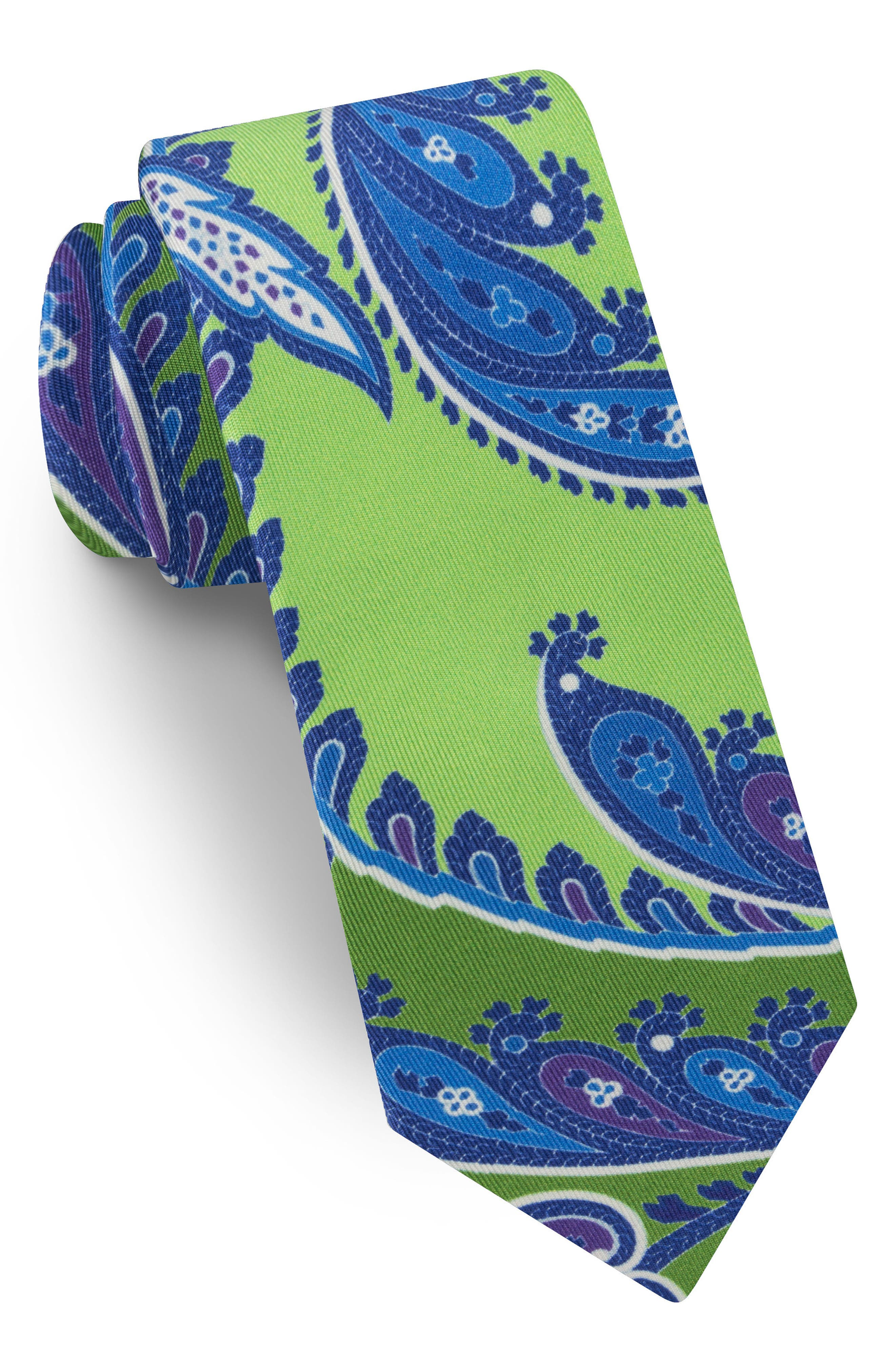 TED BAKER LONDON,                             Paisley Silk Tie,                             Main thumbnail 1, color,                             300