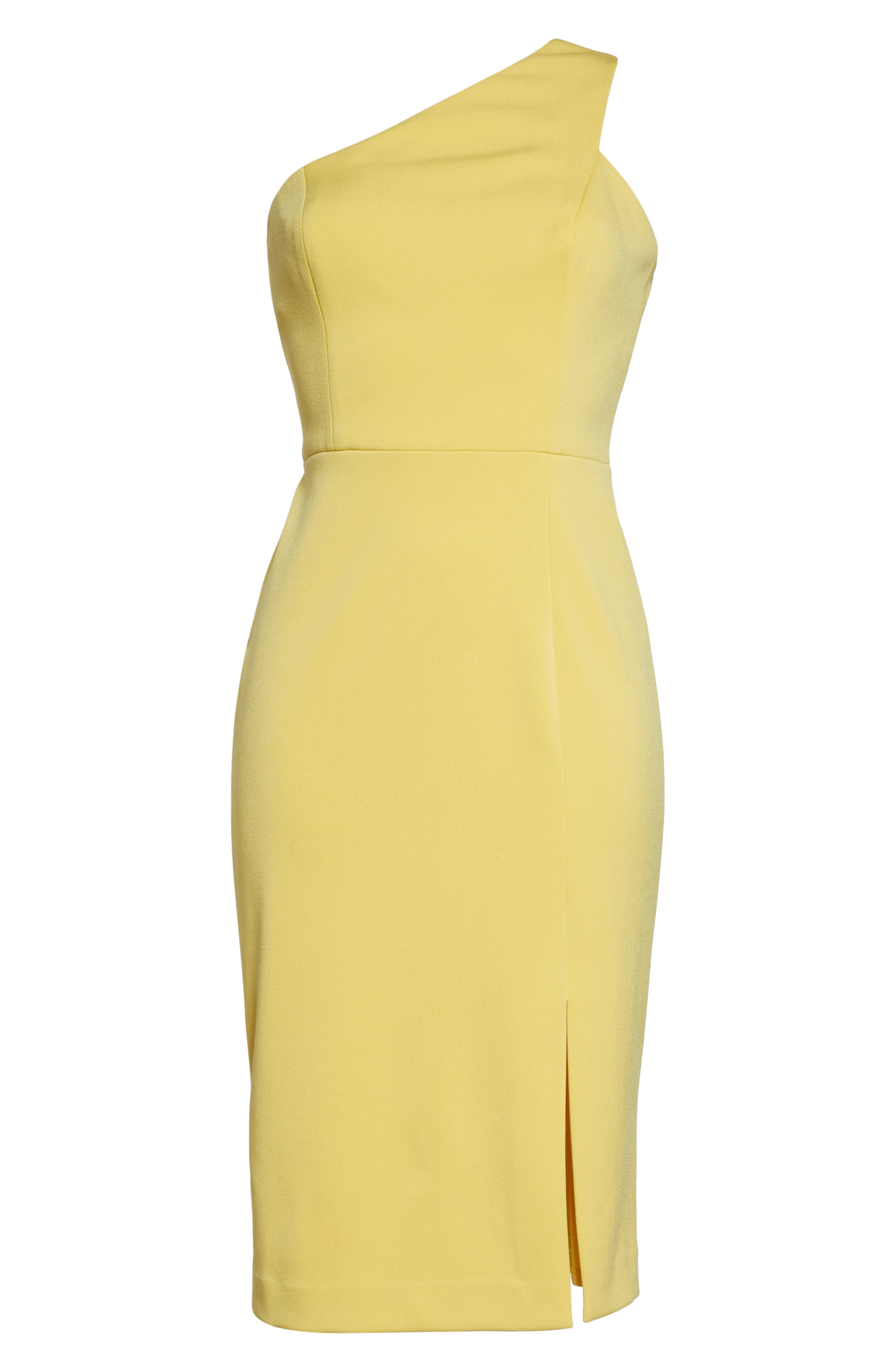 One-Shoulder Sheath Dress,                             Alternate thumbnail 7, color,                             YELLOW