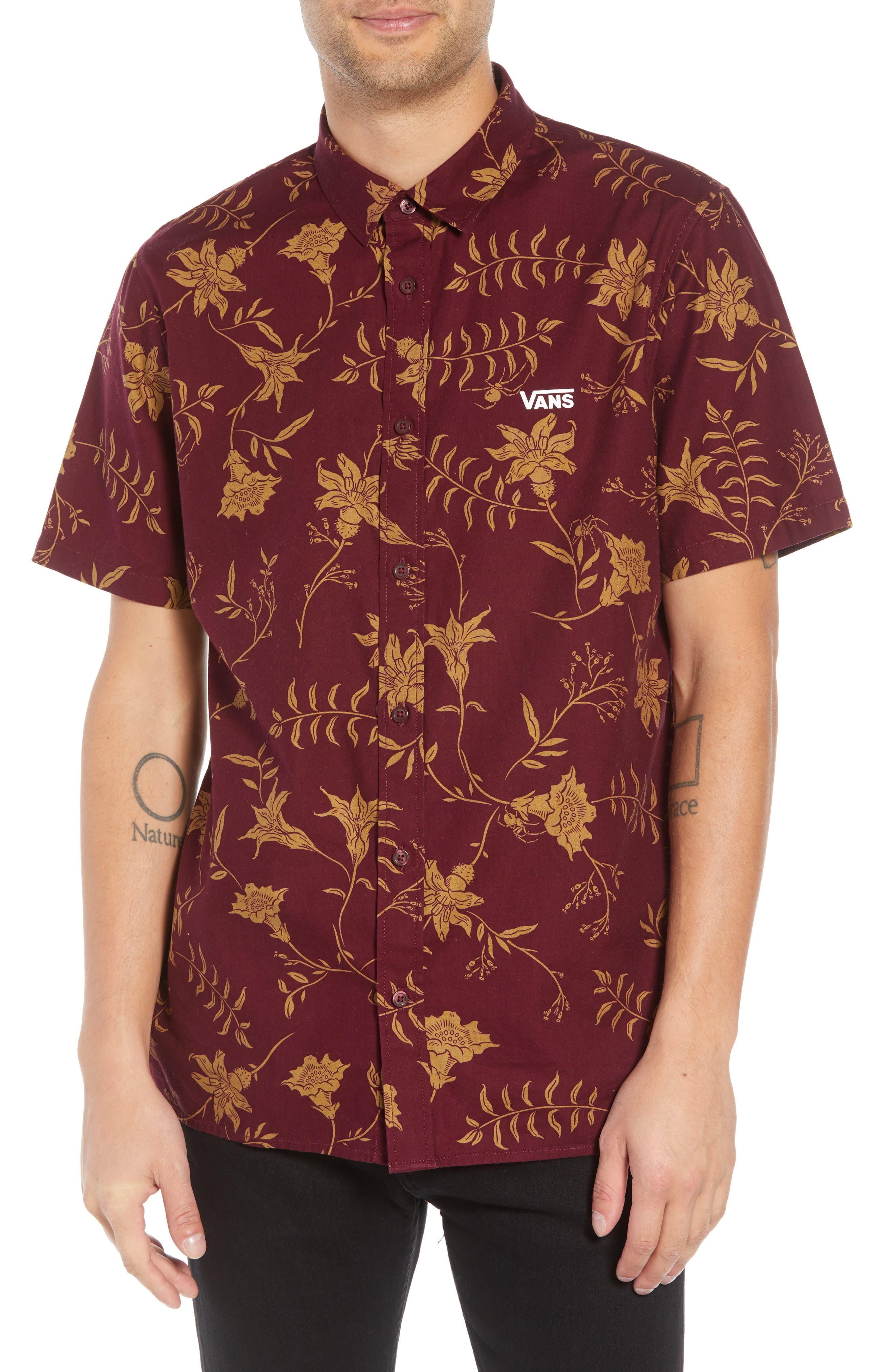9bfd8828973 Vans plants floral print woven shirt in port modesens jpg 780x1196 Floral  vans shirt