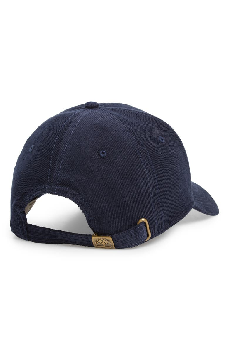 Shop Timberland Logo Embroidered Corduroy Ball Cap - Blue In Navy 517715c0e54