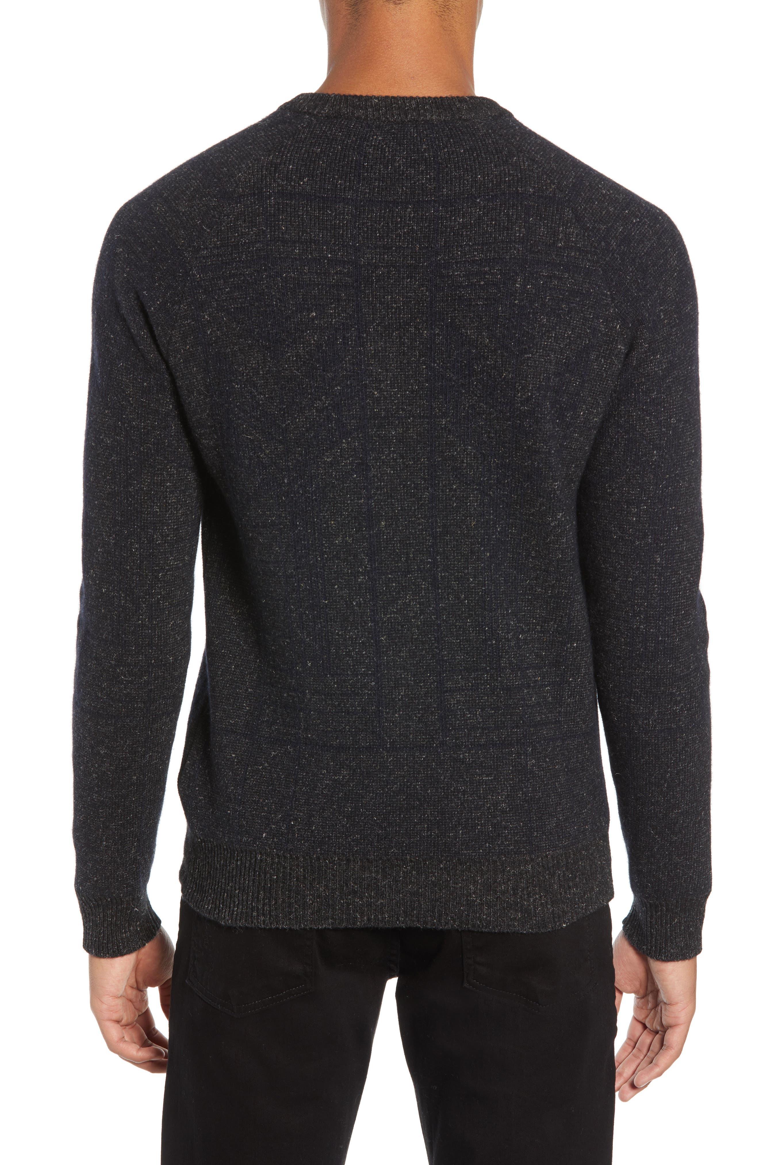 Regular Fit Crewneck Sweater,                             Alternate thumbnail 2, color,                             CHARCOAL