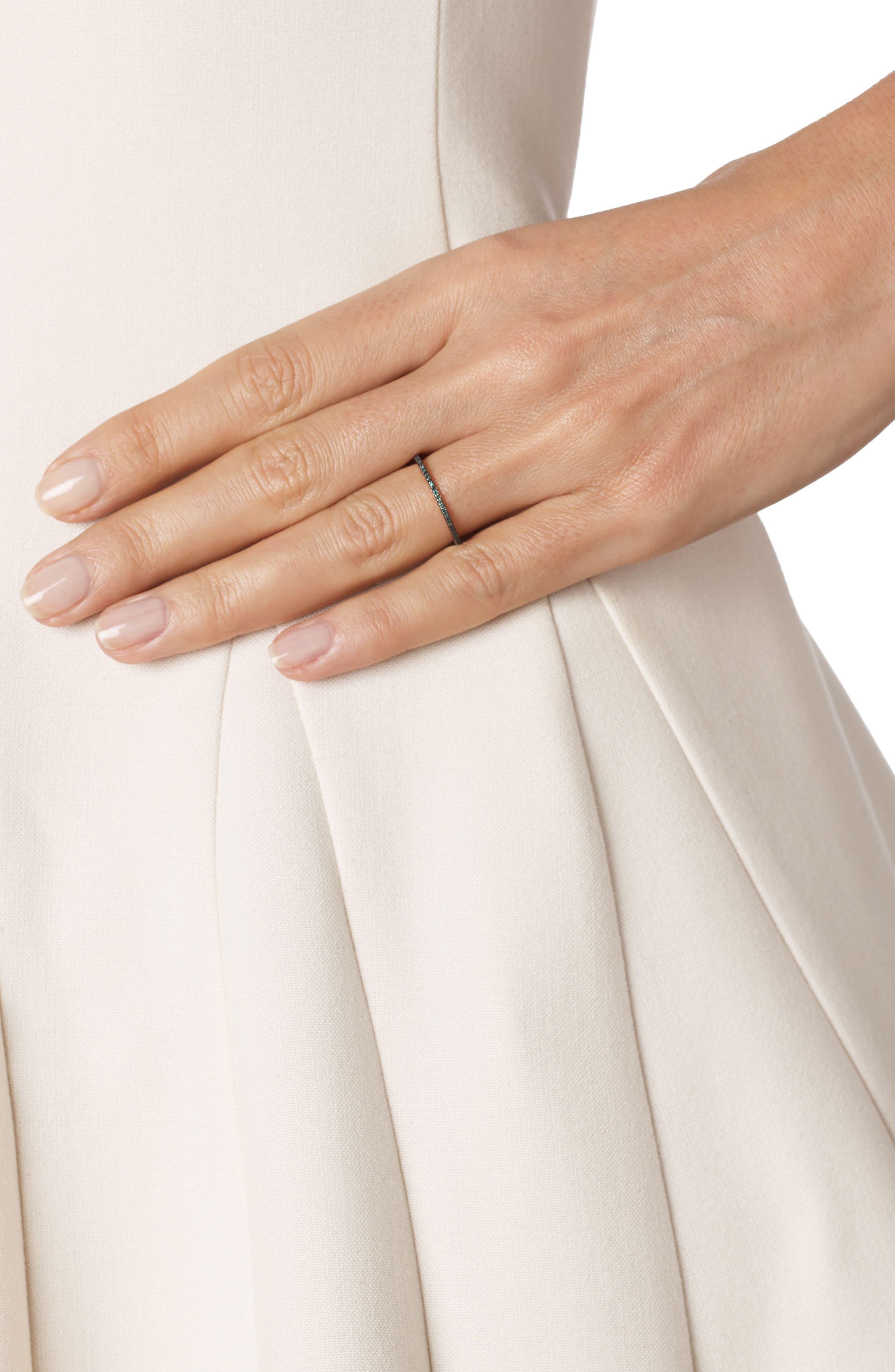 Diamond Eternity Ring,                             Alternate thumbnail 2, color,                             ROSE GOLD/ BLUE DIAMOND