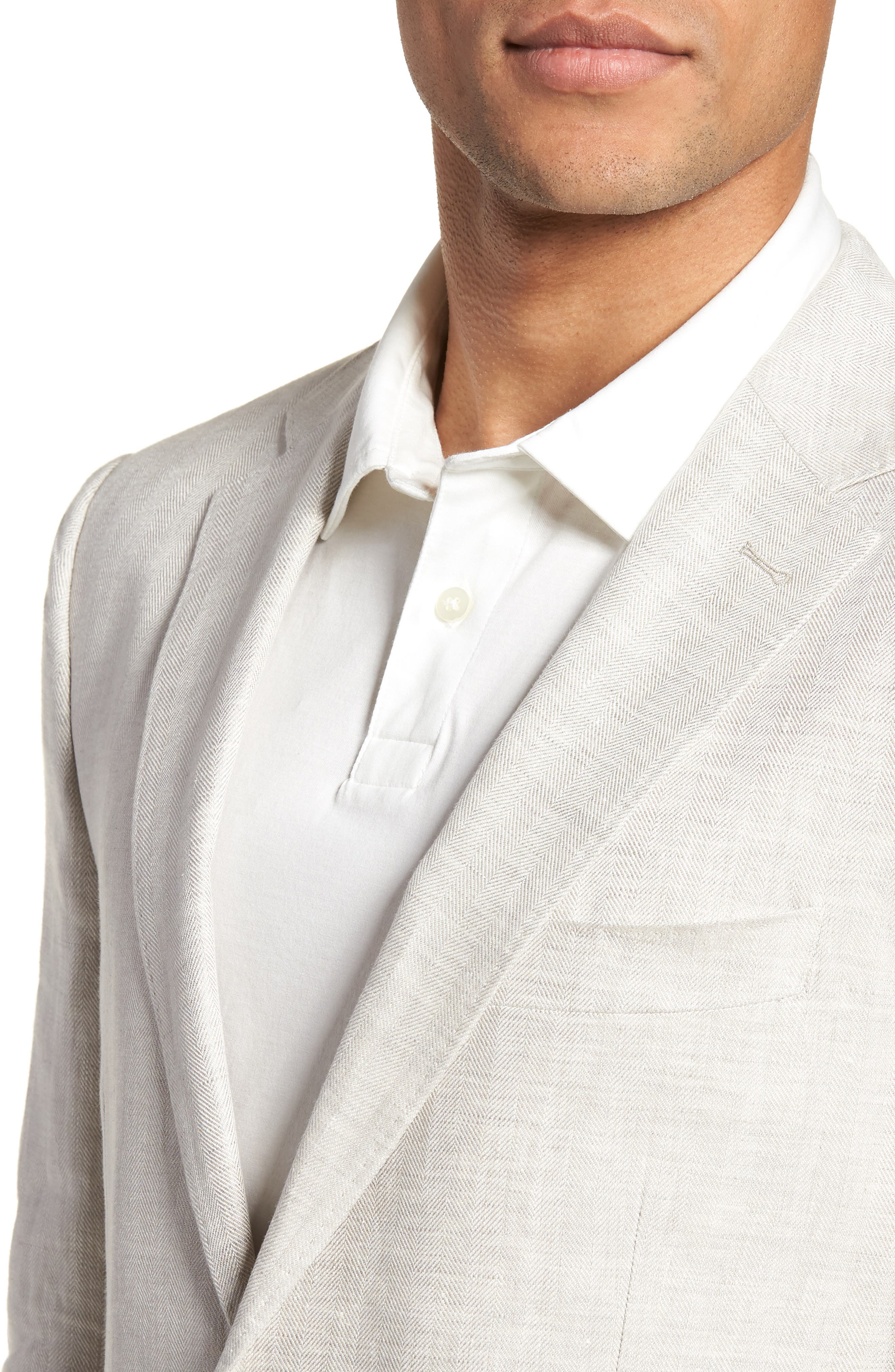 Benson Road Linen Sport Coat,                             Alternate thumbnail 4, color,                             NATURAL