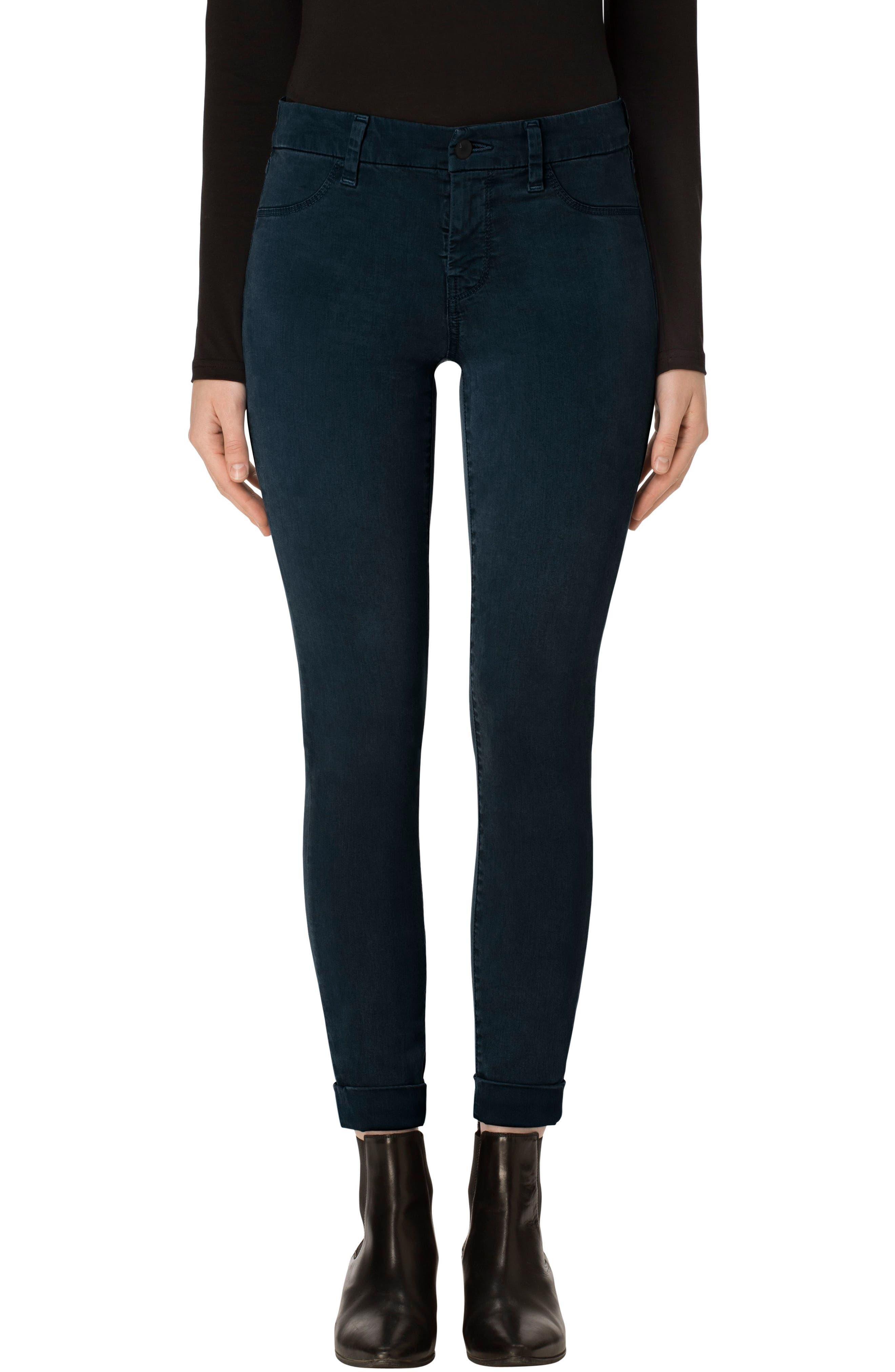 'Anja' Cuffed Crop Skinny Jeans,                             Main thumbnail 2, color,
